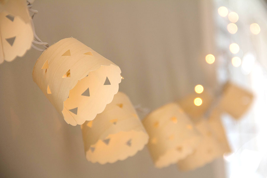 Birch wood garland