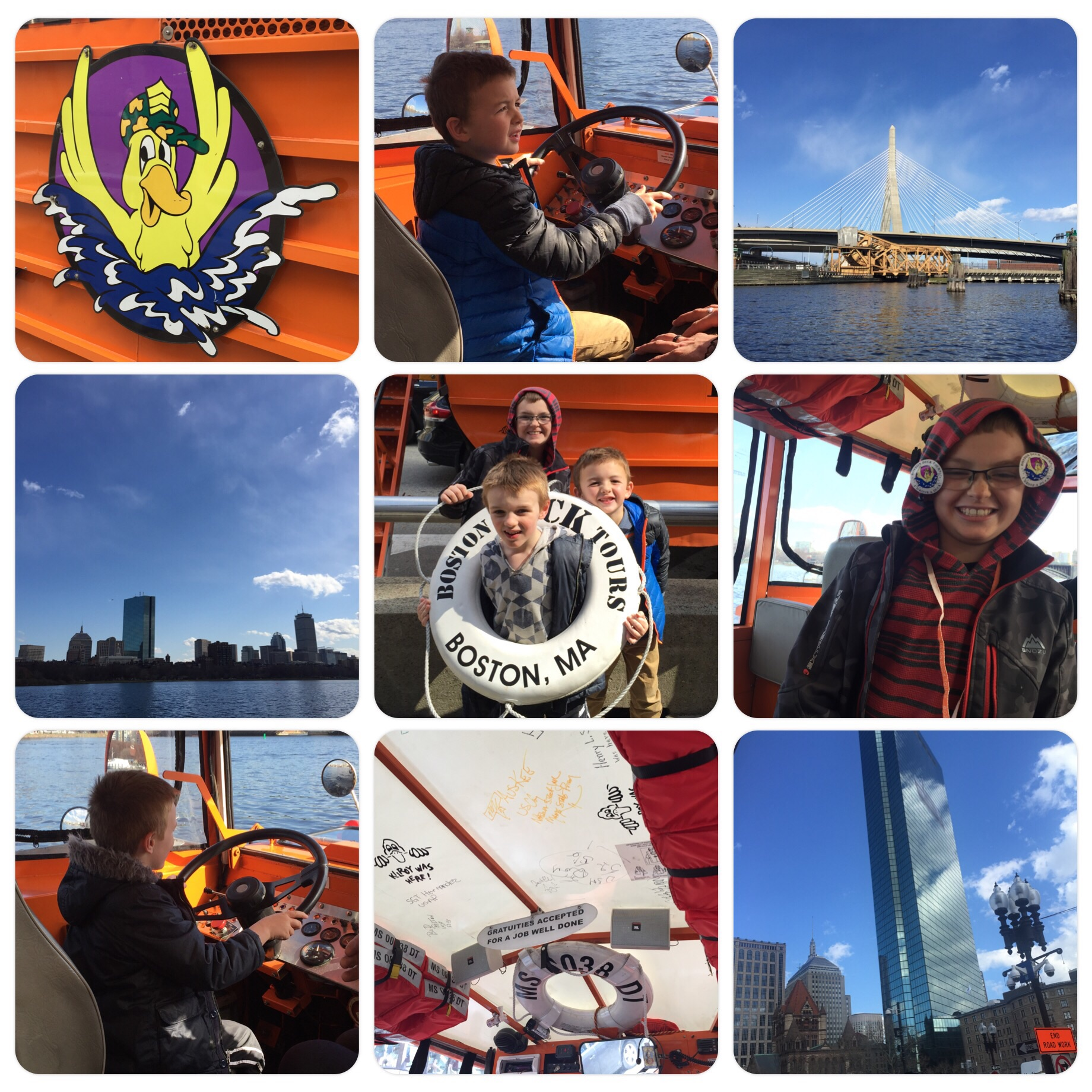 Boston Duck Tour - the kids got the drive the boat!