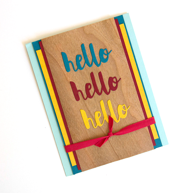 Hello Card for ARC Crafts using Perfect Paper Crafting