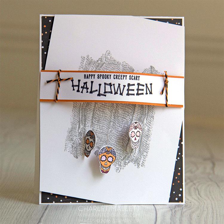Mr. Funny Bones & Ghoulish Grunge Sugar Skull card
