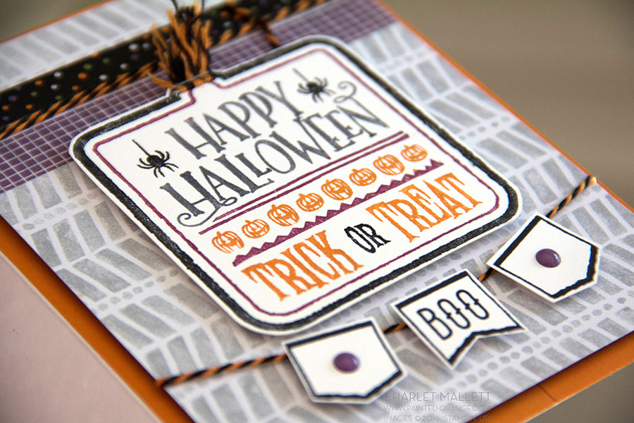 Halloween Treat card and Mr. Funny Bones Boo Banner.