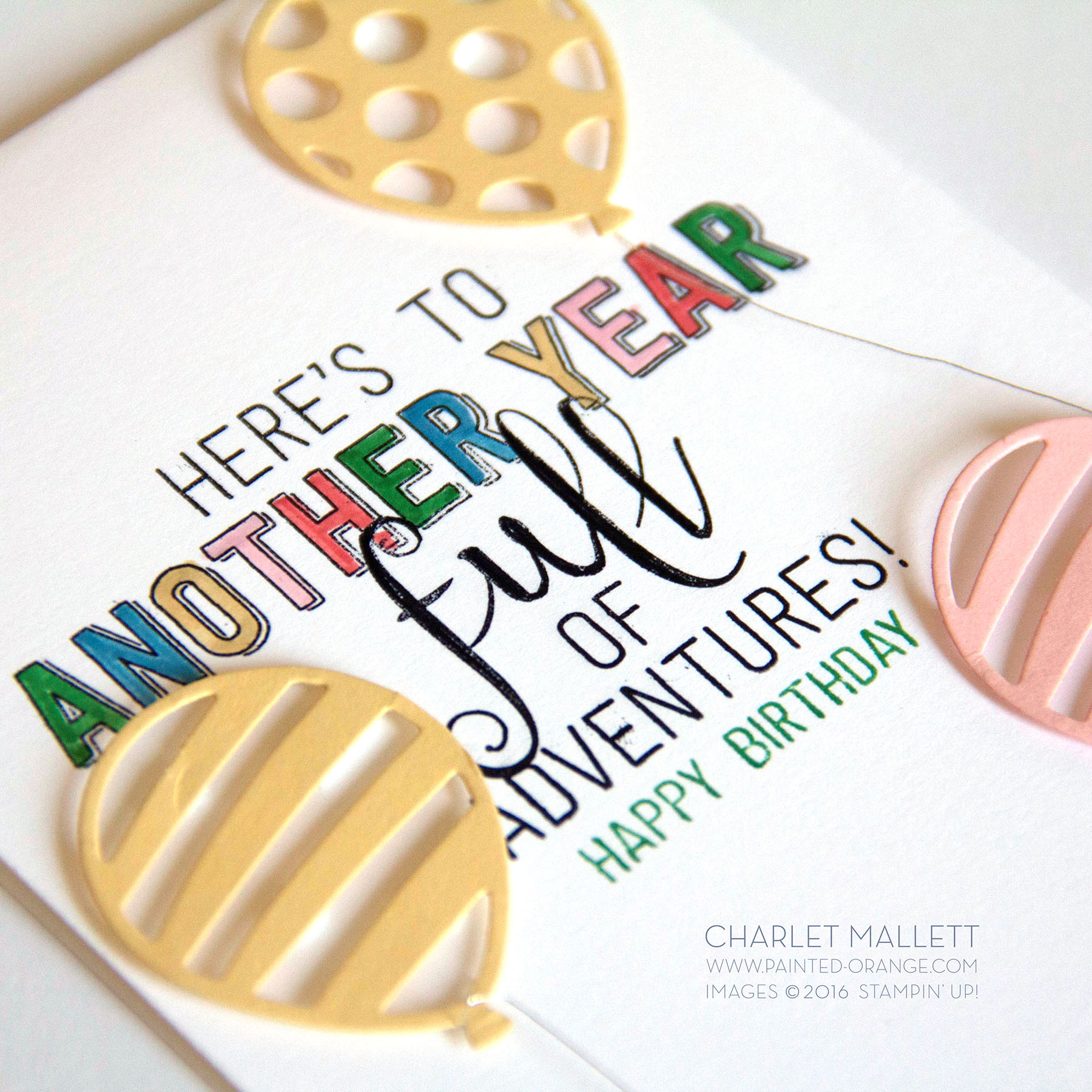 Balloon Adventures - Stampin' Up! 2017 Occasions mini catalog - Charlet Mallett