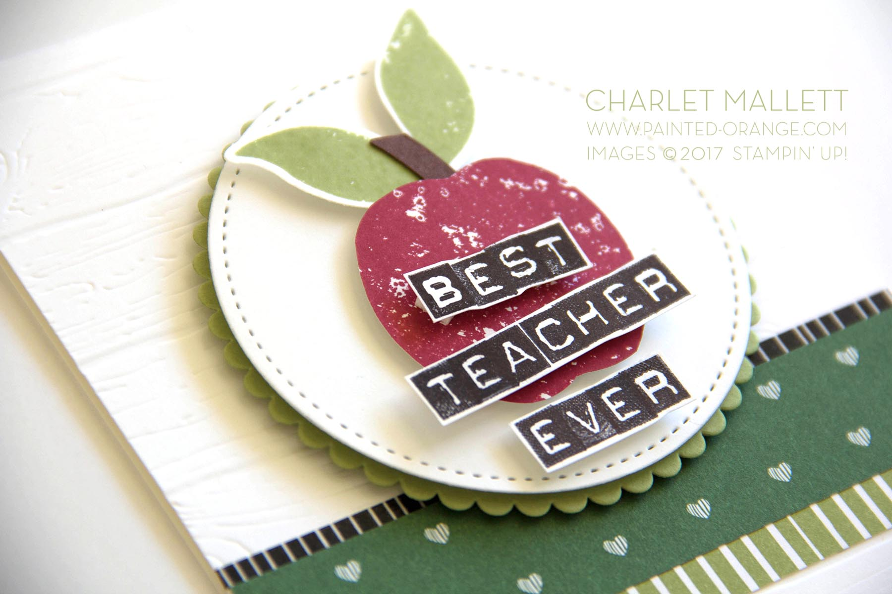 Lemon Zest, Labeler Alphabet - Teacher card. Charlet Mallett - Stampin' Up!