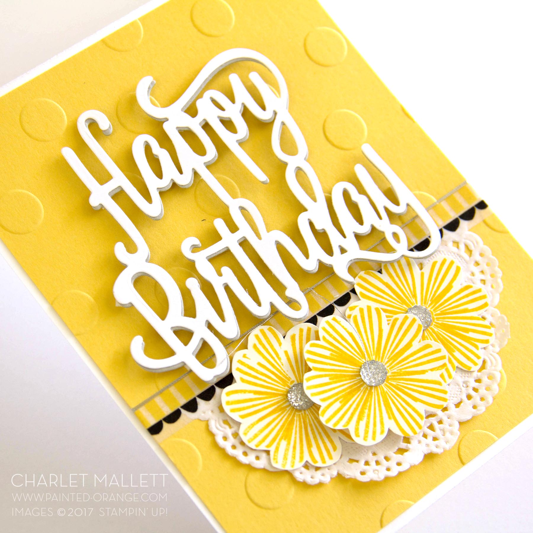 Happy Birthday Gorgeous - Charlet Mallett, balloon streamers turned into flowers!