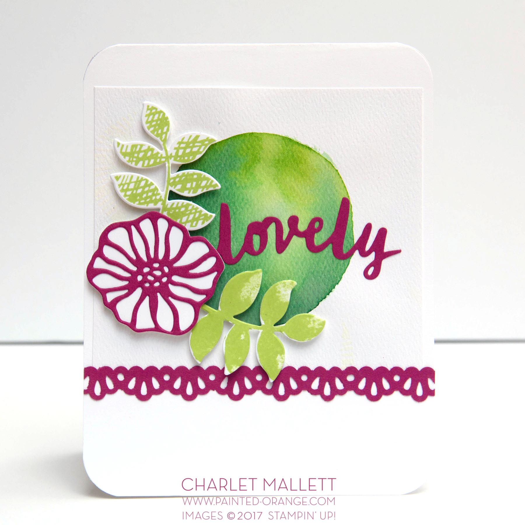 Oh So Eclectic, Lovely Words - Charlet Mallett, Stampin' Up! TGIFC115 Color Challenge.