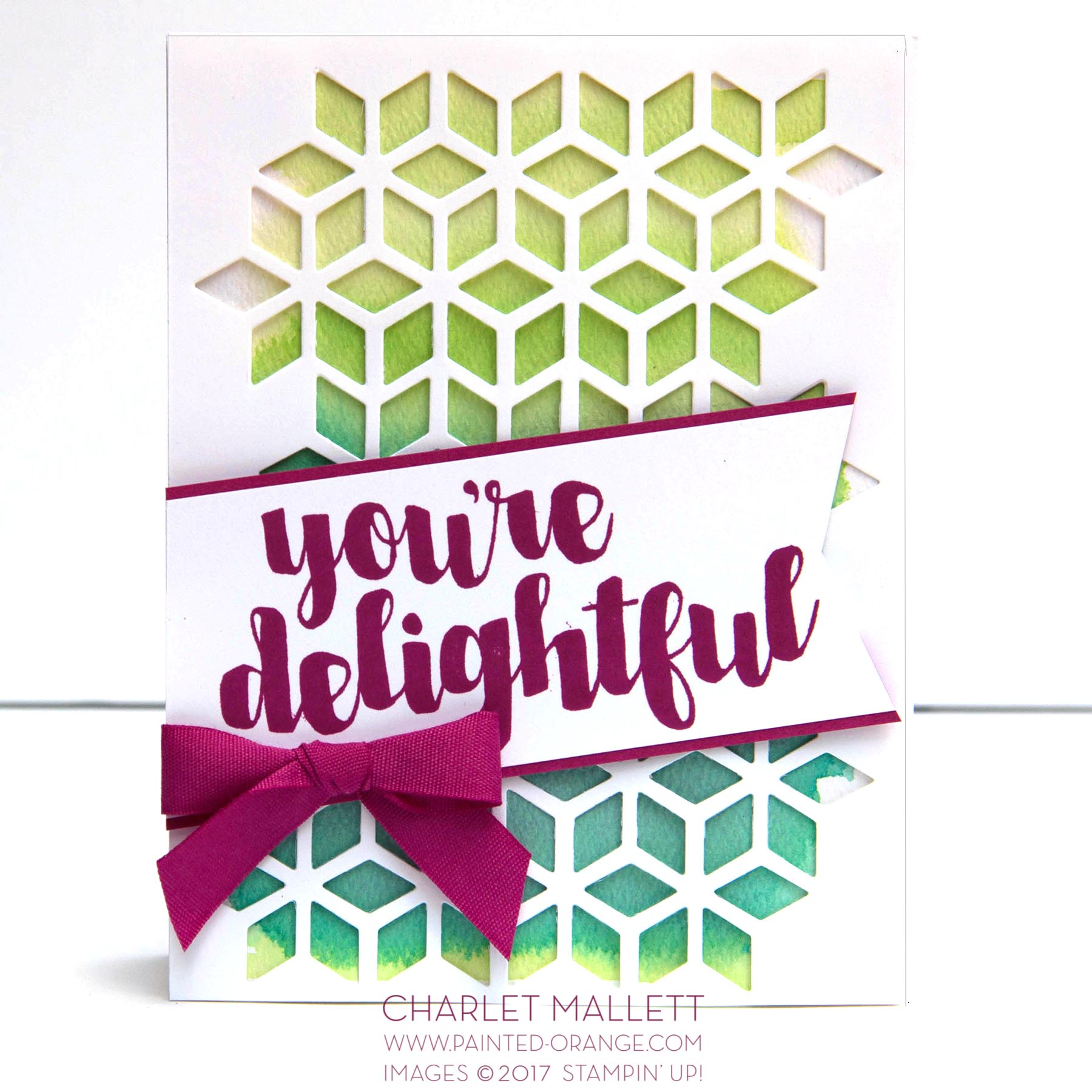 You're Delightful Card, Charlet Mallett - Stampin' Up!