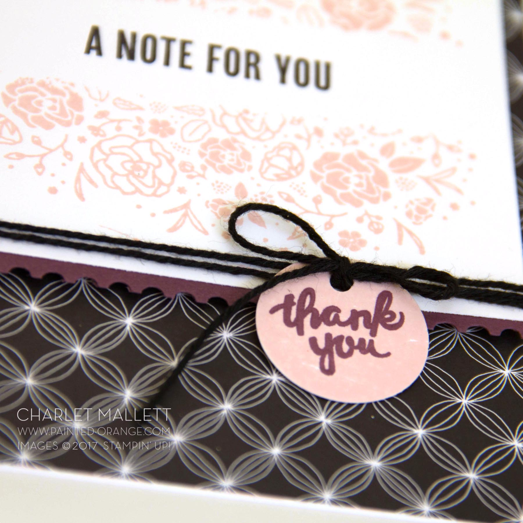 Wood Words - A Note For You card, Charlet Mallett - Stampin' Up!