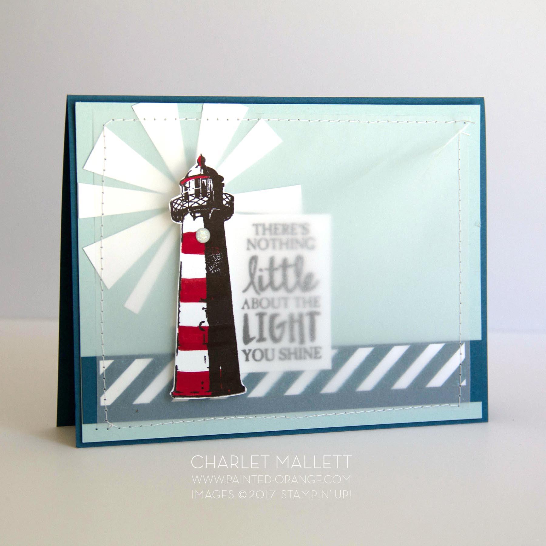 High Tide Lighthouse Card - Charlet Mallett, Stampin' Up!