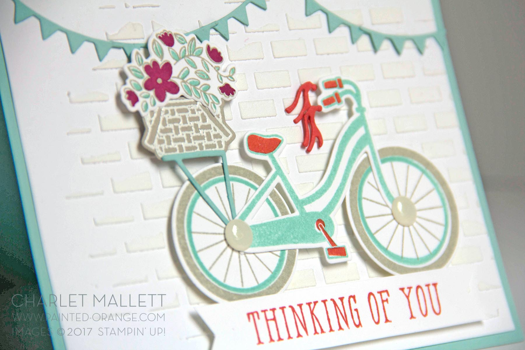 Bike Ride Thinking of You card - Charlet Mallett, Stampin' Up!