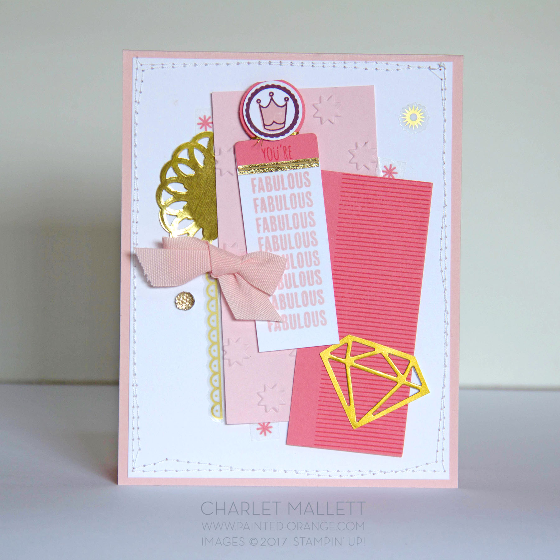 Tabs for Everything - Girl You're Fabulous - TGIF Challenges, Stampin' Up! Charlet Mallett
