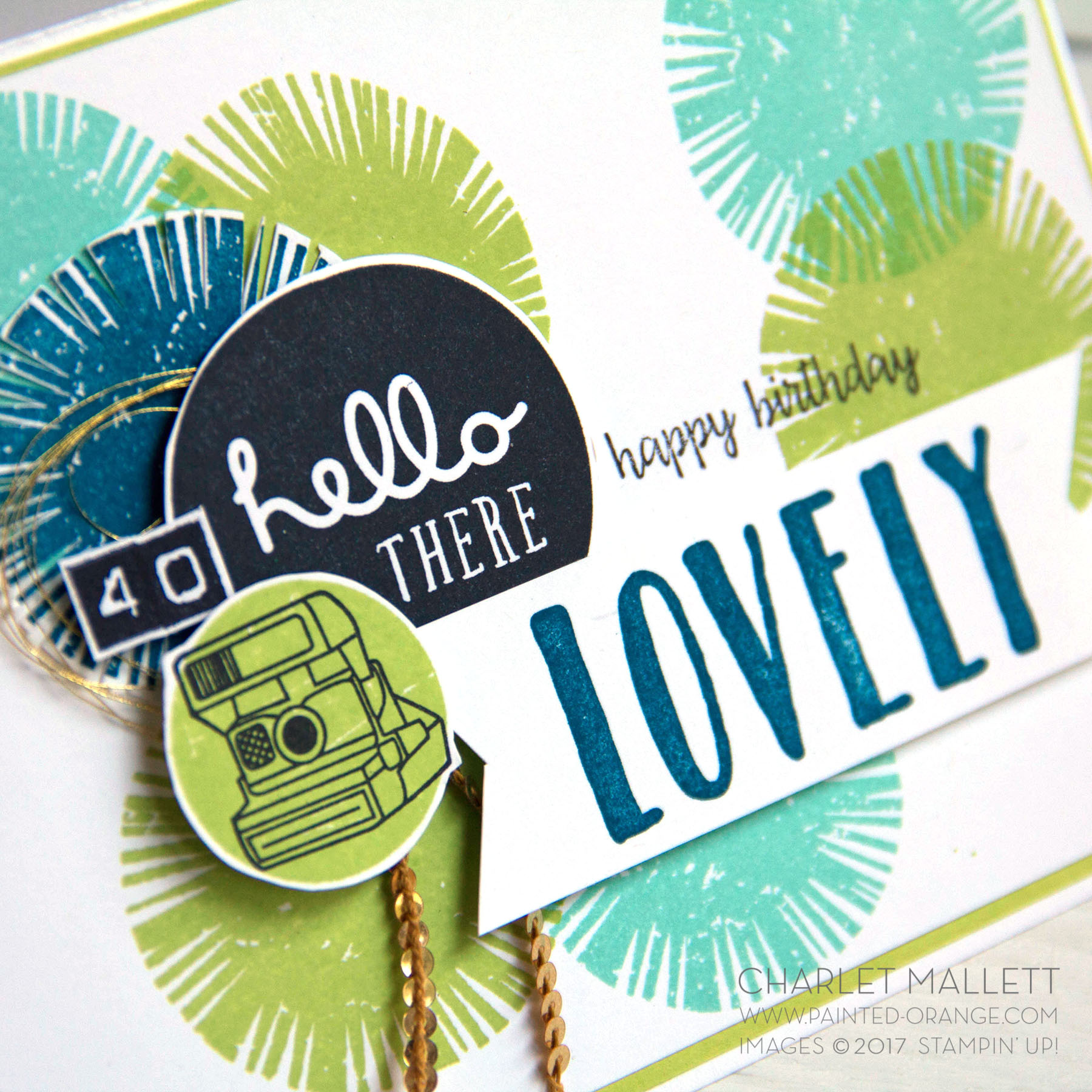 40th Birthday card using Oh So Lovely and Happy Birthday Gorgeous. Charlet Mallett