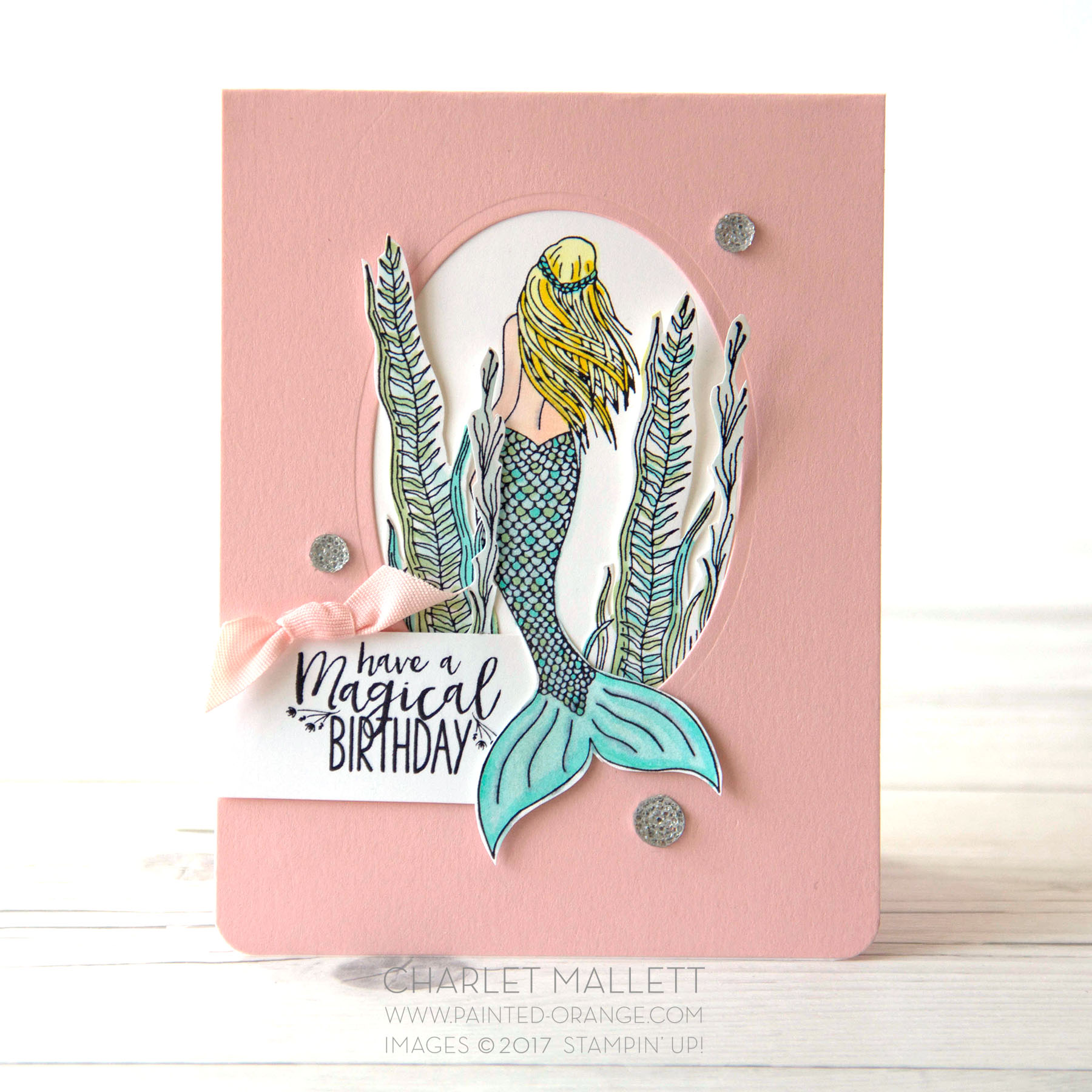 Magical Mermaid Card - Charlet Mallett - Stampin' Up!