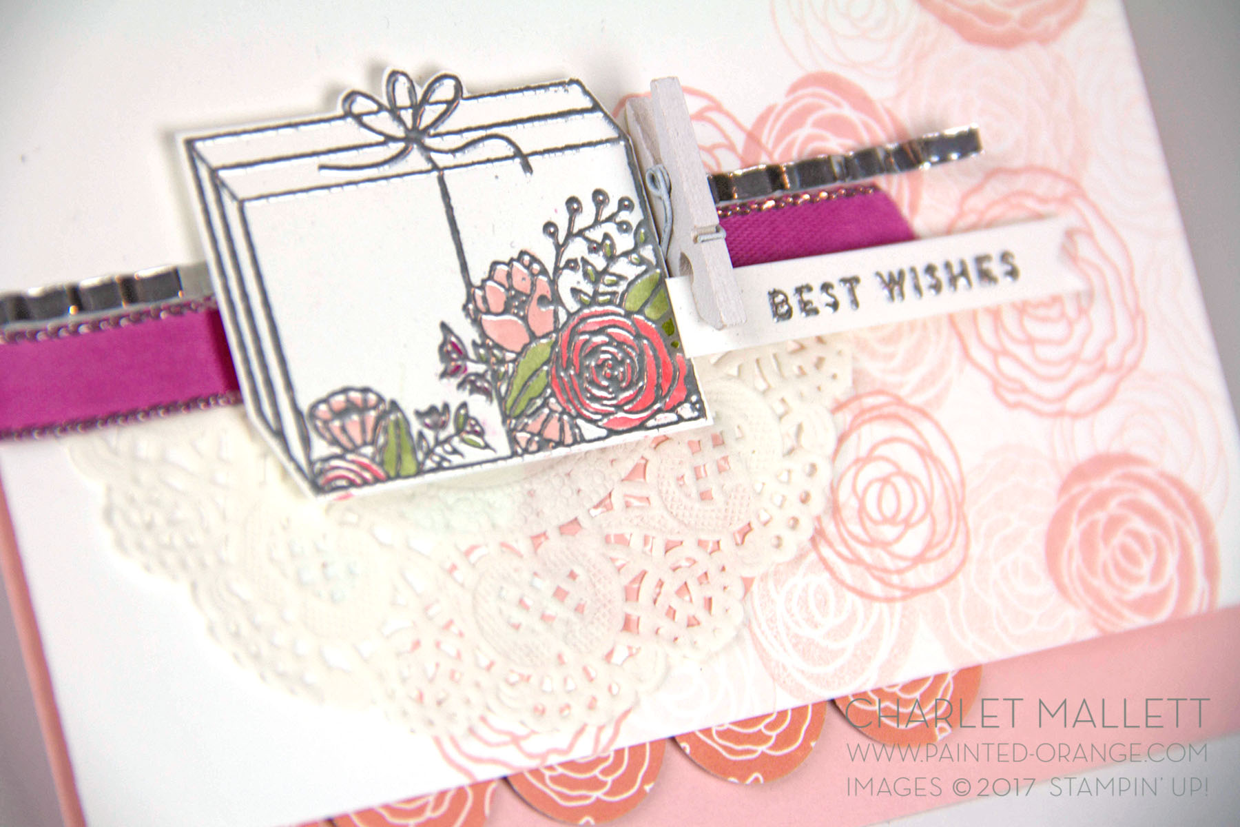 Best Wishes card - Cake Soiree stamp set - Charlet Mallett - Stampin' Up!