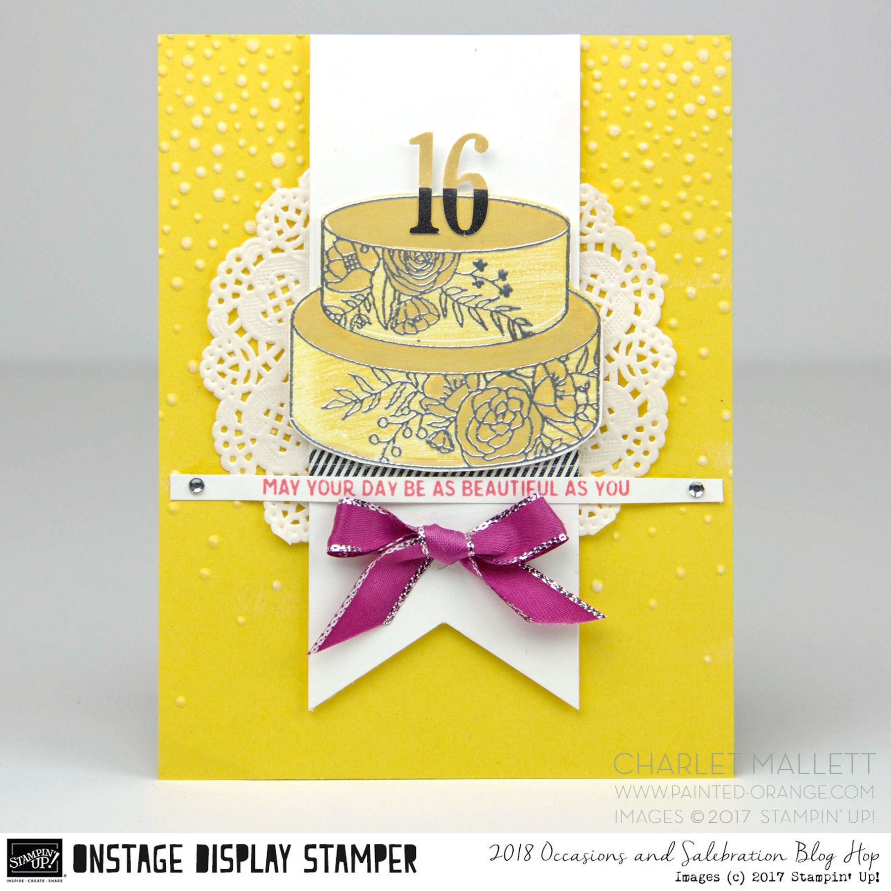 Sweet 16 card - Cake Soiree stamp set - Charlet Mallett - Stampin' Up!
