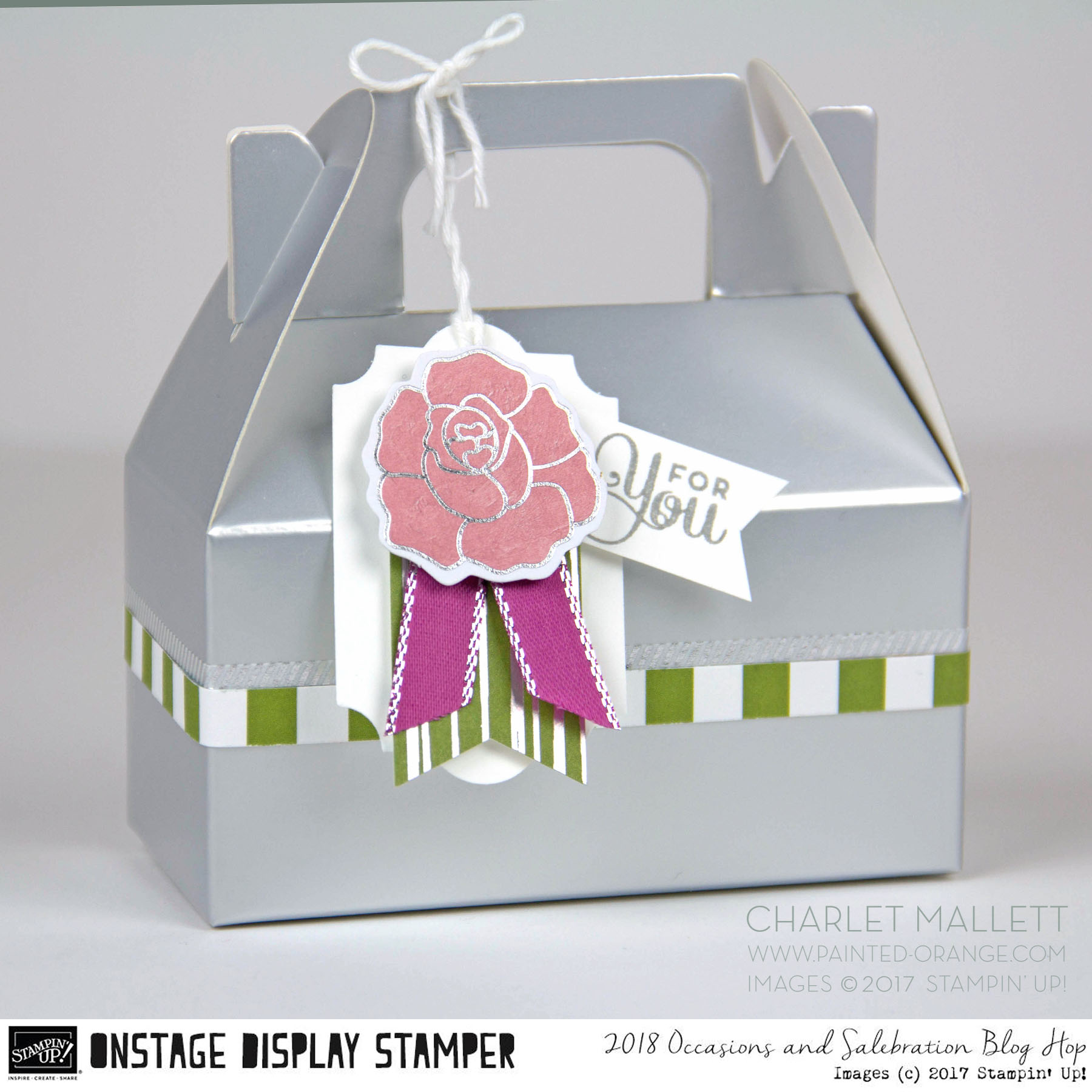 For You gift box - Cake Soiree stamp set - Charlet Mallett - Stampin' Up!