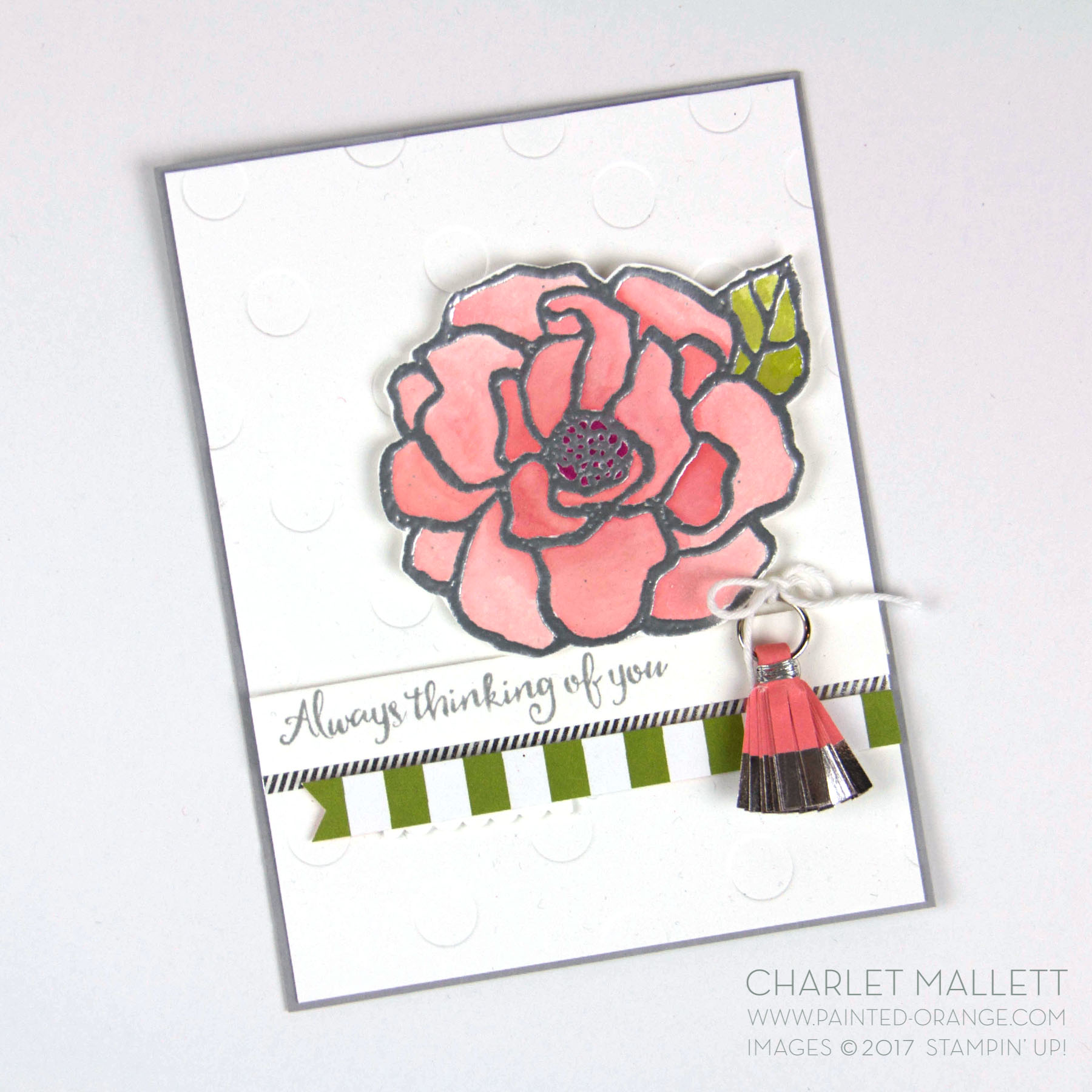 Beautiful Day Rose card - Charlet Mallett - Stampin' Up! Occasions 2018