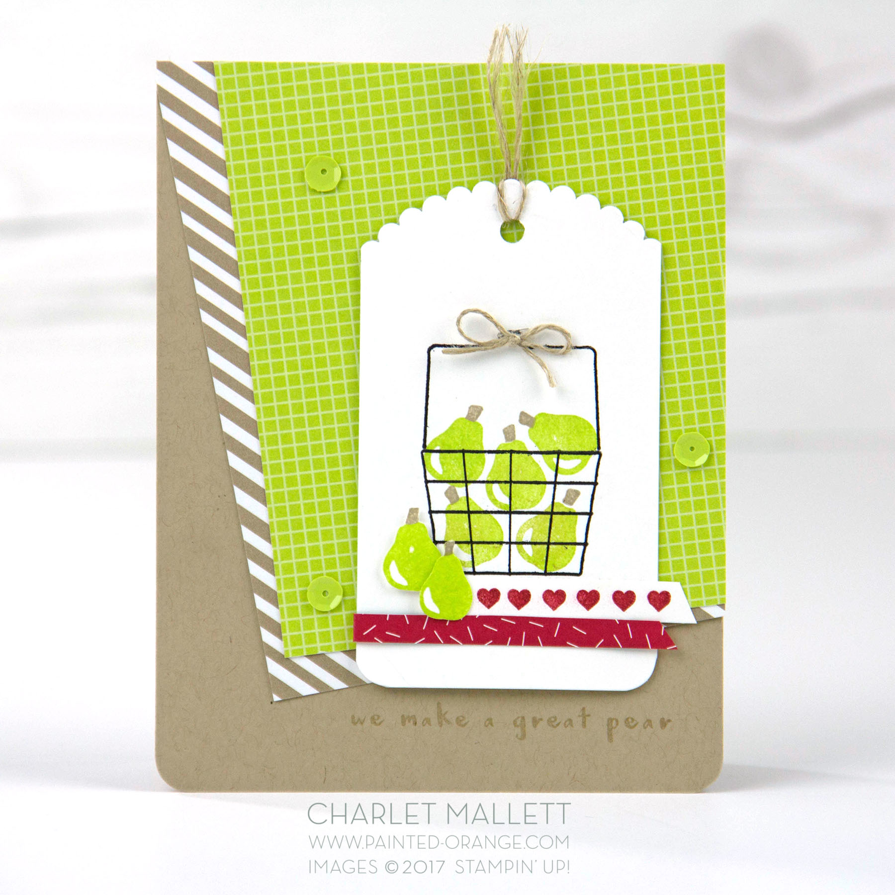 Fruit Basket card - Charlet Mallett - Stampin' Up! #GDP117