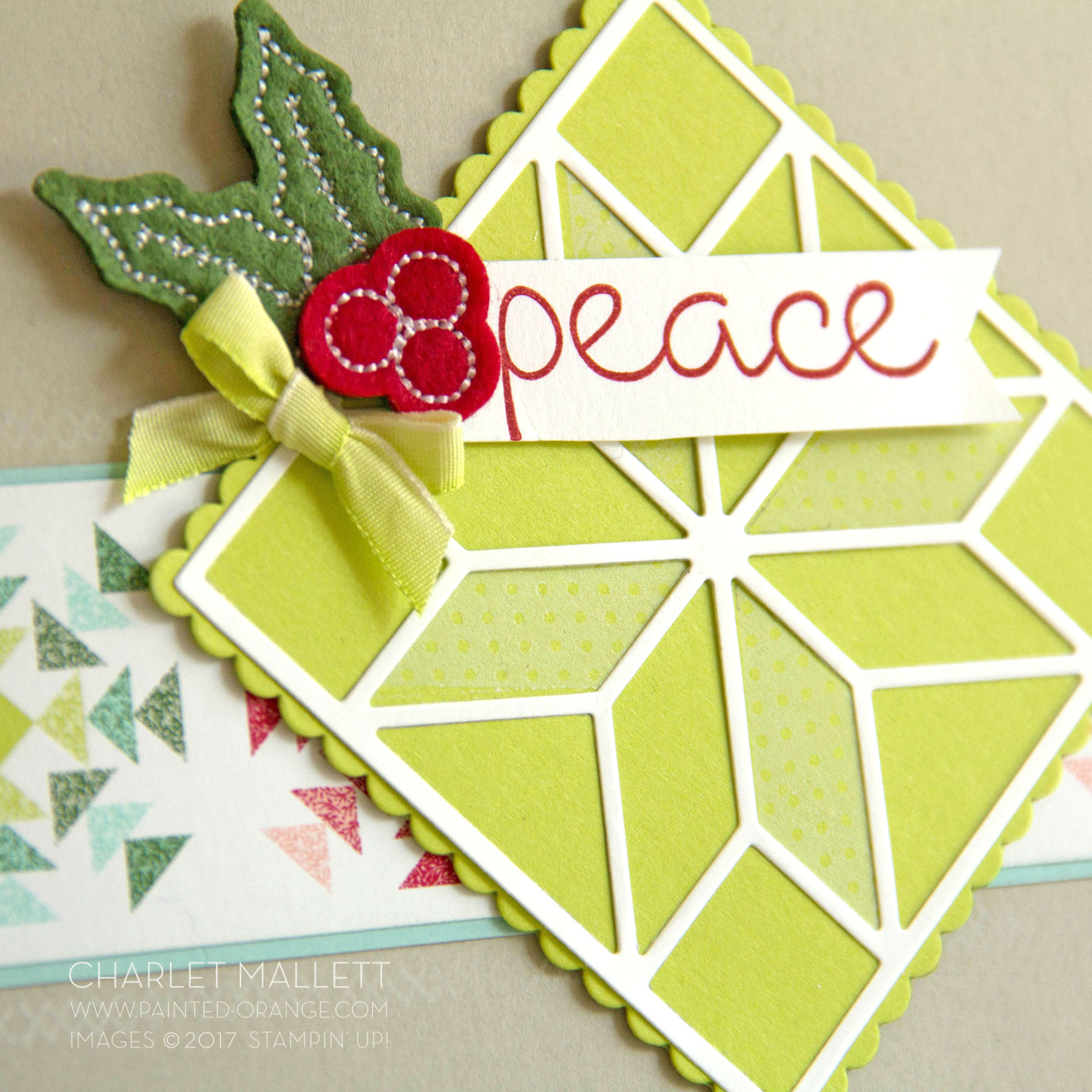 Peace Christmas Quilt - Charlet Mallett - Stampin' Up!