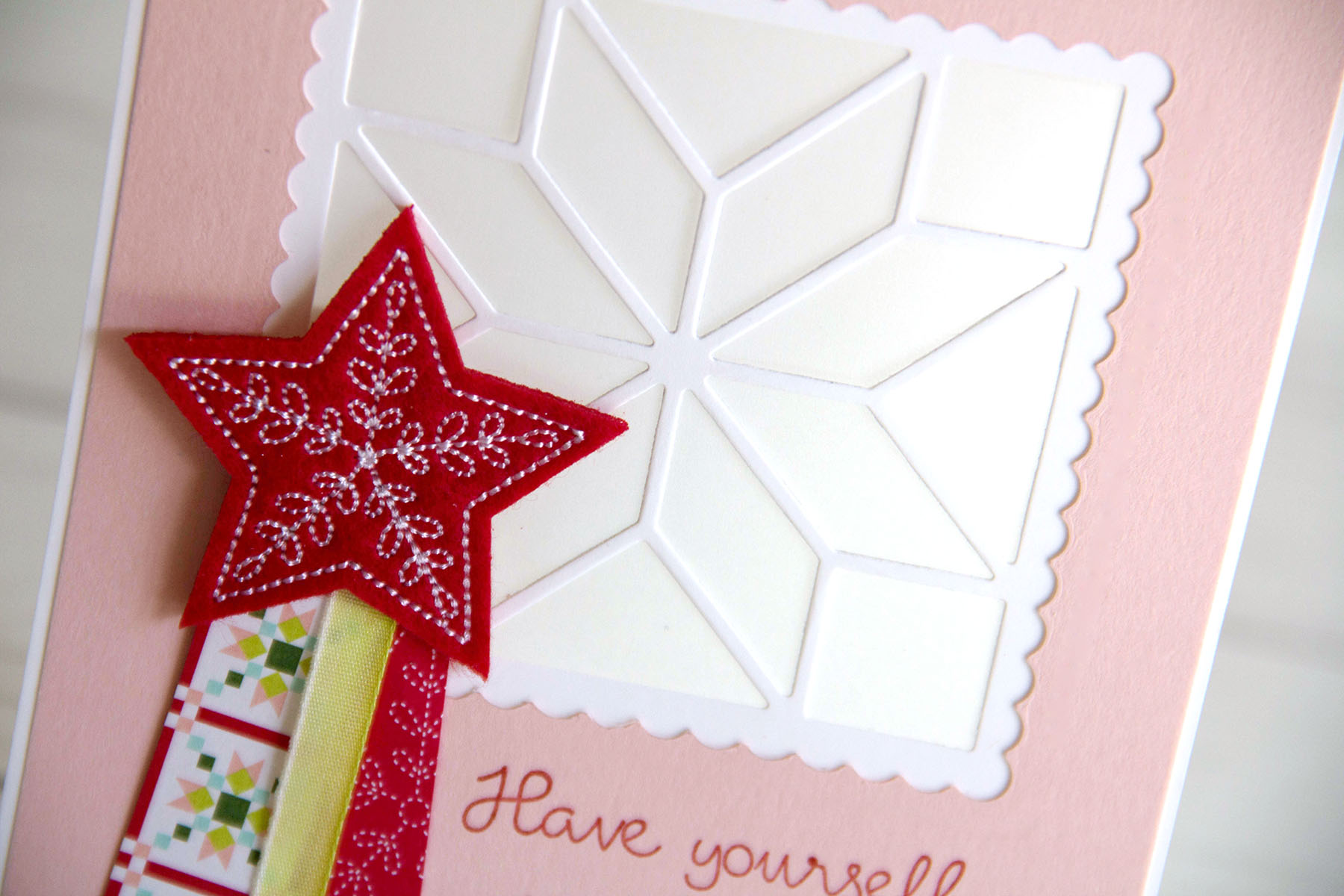 Merry Little Christmas Quilt card - Charlet Mallett - Stampin' Up!