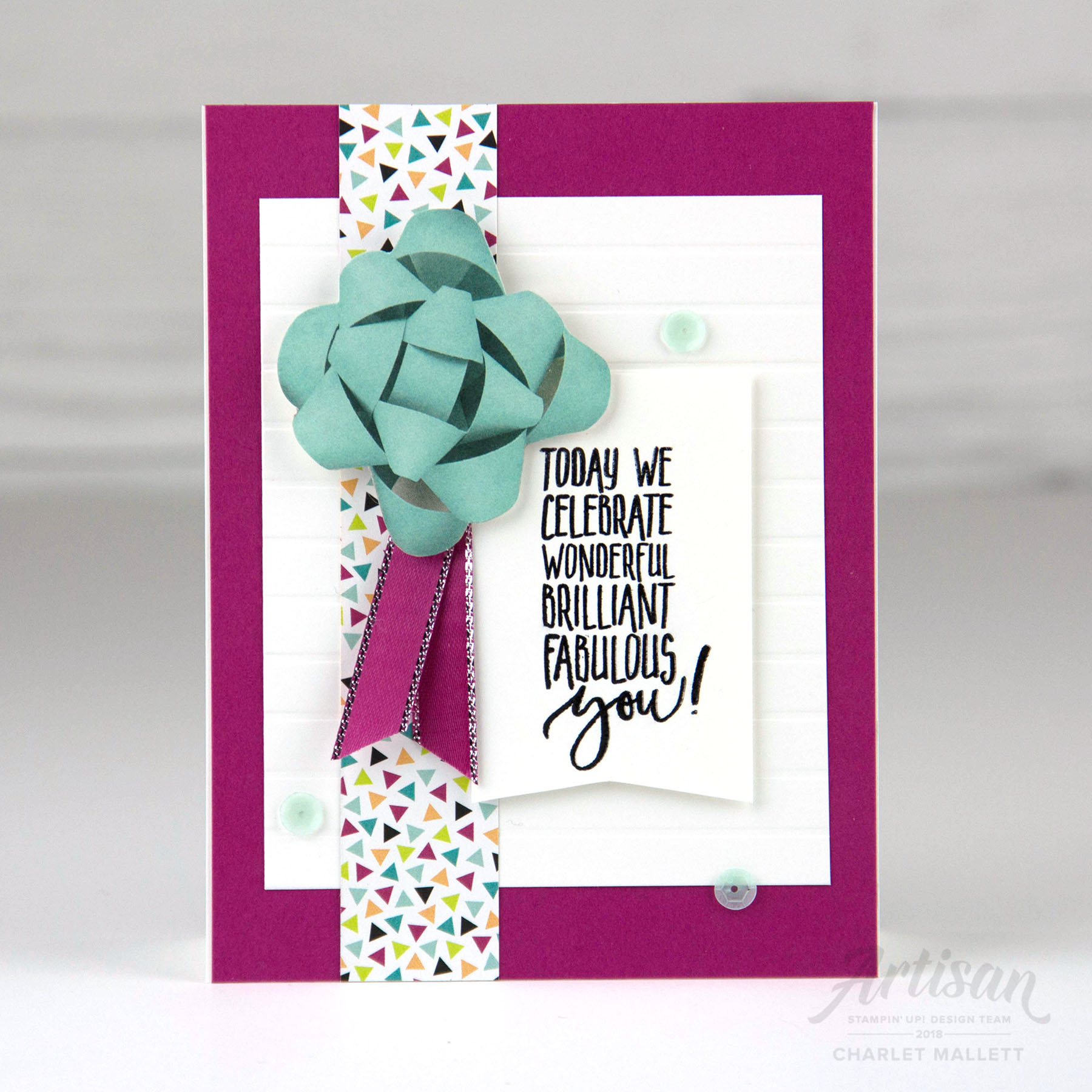 Detail view Picture Perfect Birthday Card - Charlet Mallett, Painted-Orange.com - Stampin' Up!