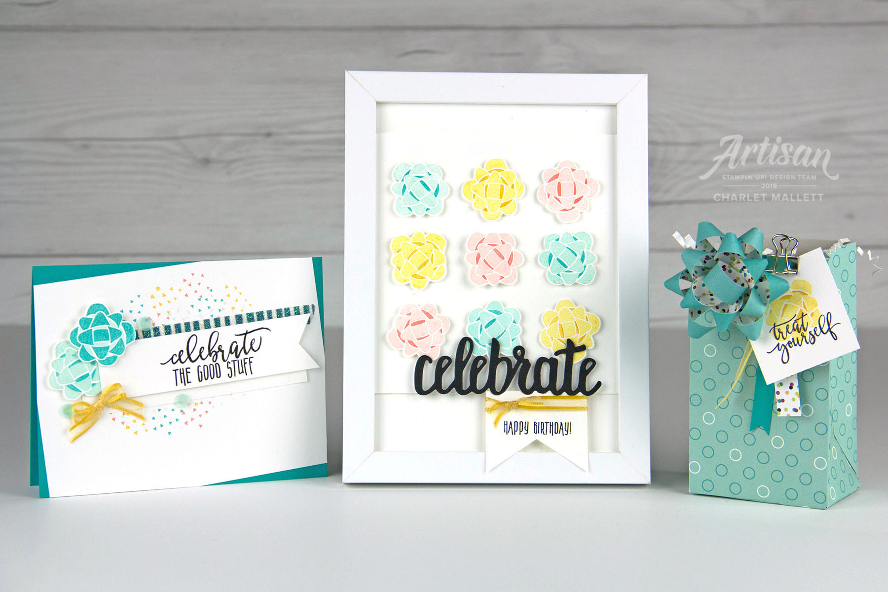 Picture Perfect Birthday projects - Charlet Mallett - Stampin' Up! Artisan Designer.