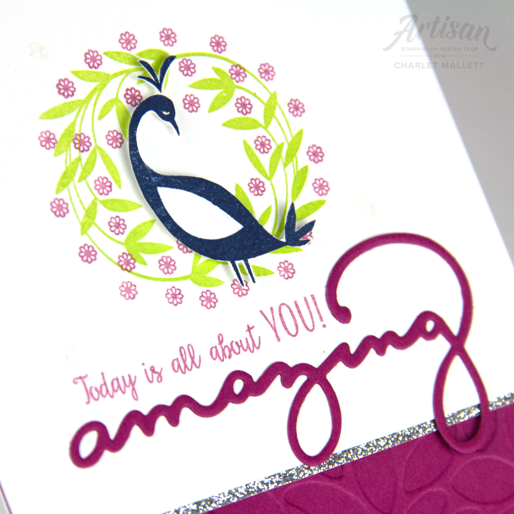 Pretty Peacock card - Charlet Mallett - Stampin' Up!