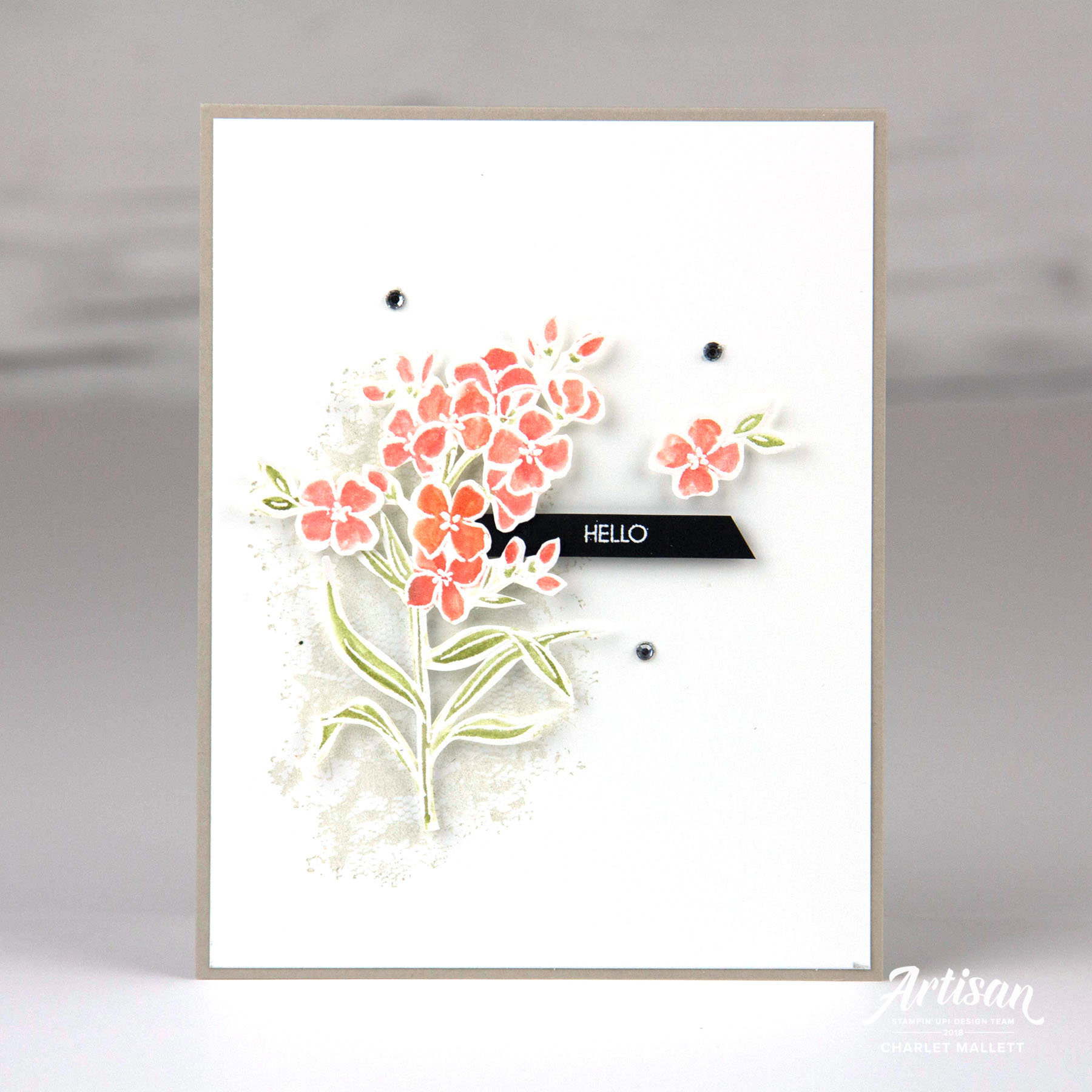 Hello Card using the Southern Serenade Stamp Set - Charlet Mallett, Stampin' Up!