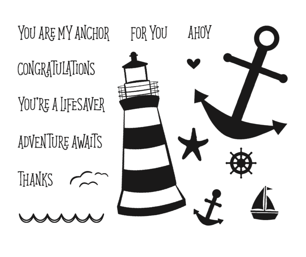You are my Anchor stamp set
