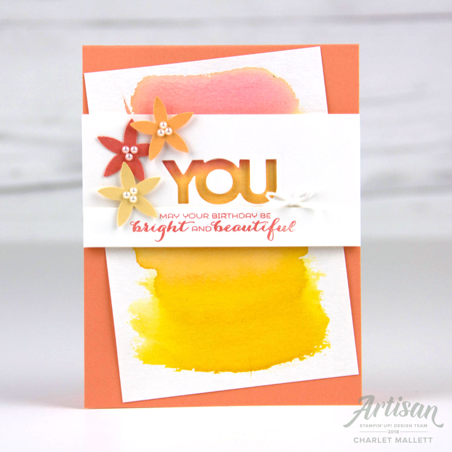 Sunshine & Rainbows stamp set - BRIGHT YOU card - Charlet Mallett, Stampin' Up!