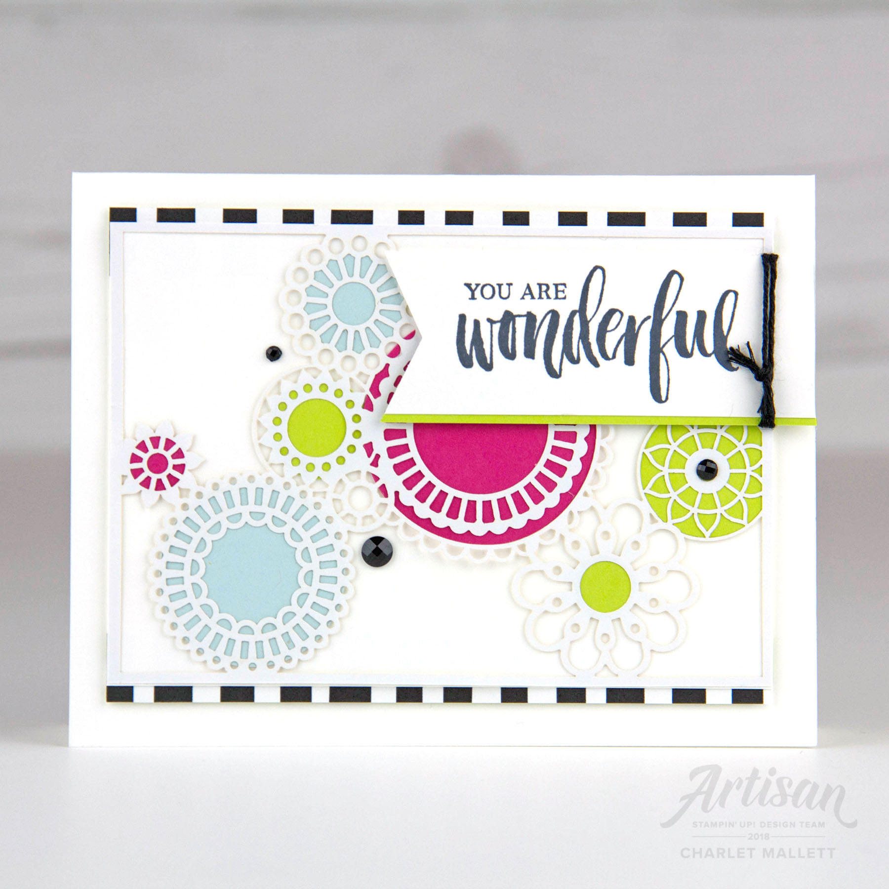 GDP138 - Charlet Mallett, Stampin' Up!Greeting is from Rooted in Nature.