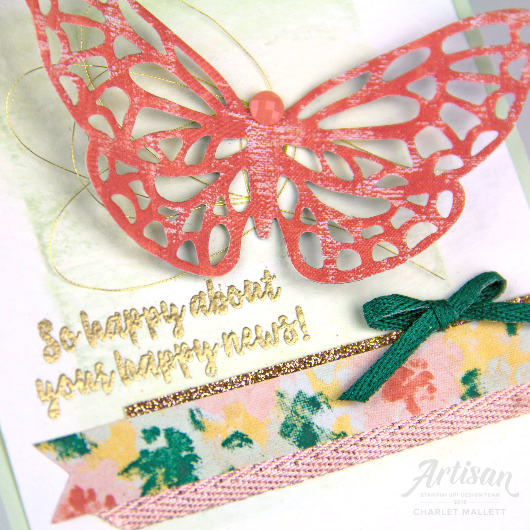 Butterfly cards created with Abstract Impressions stamp set - Charlet Mallett, Stampin' Up!