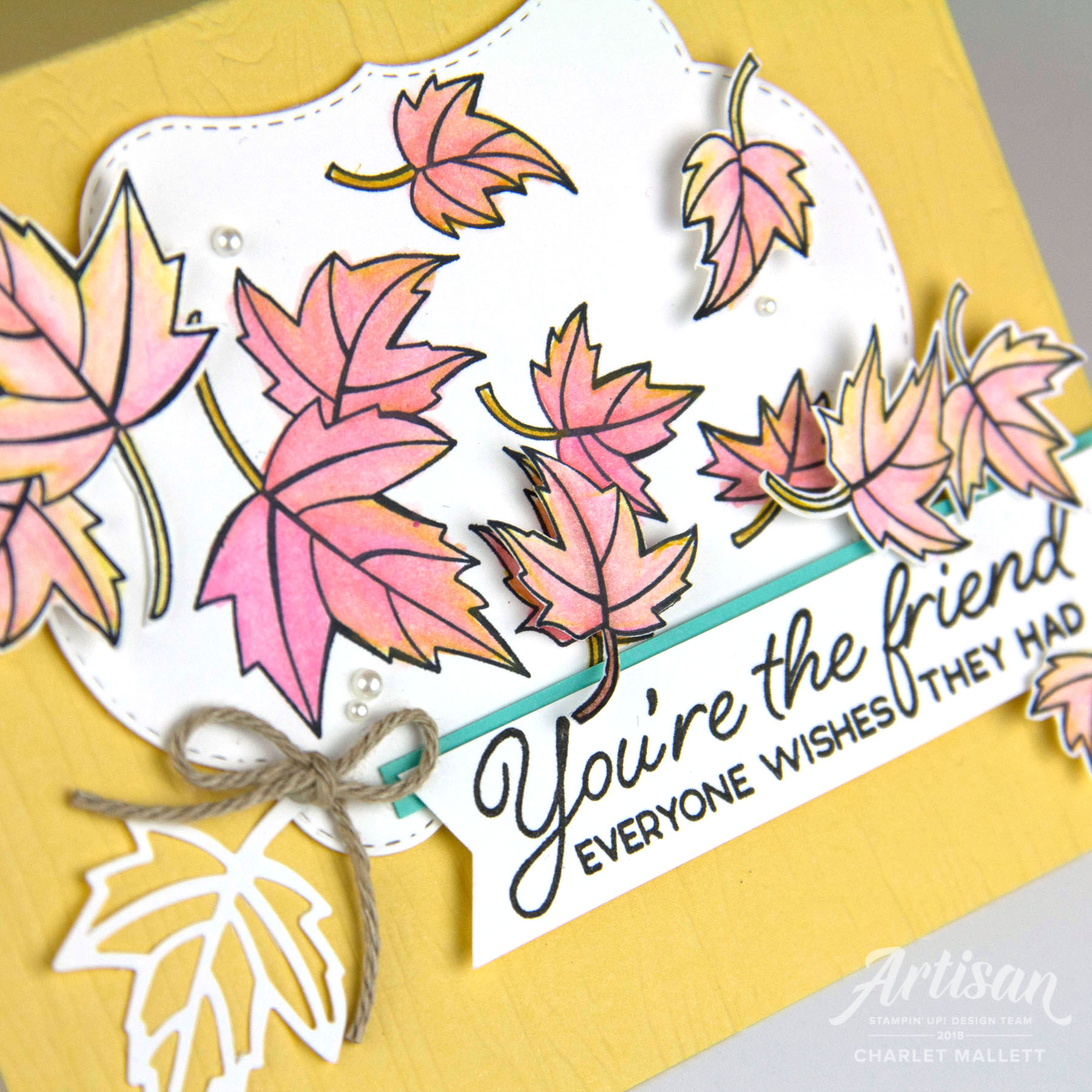 Falling Leaves card featuring the Blended Seasons Stamp set. Charlet Mallett - Stampin' Up!