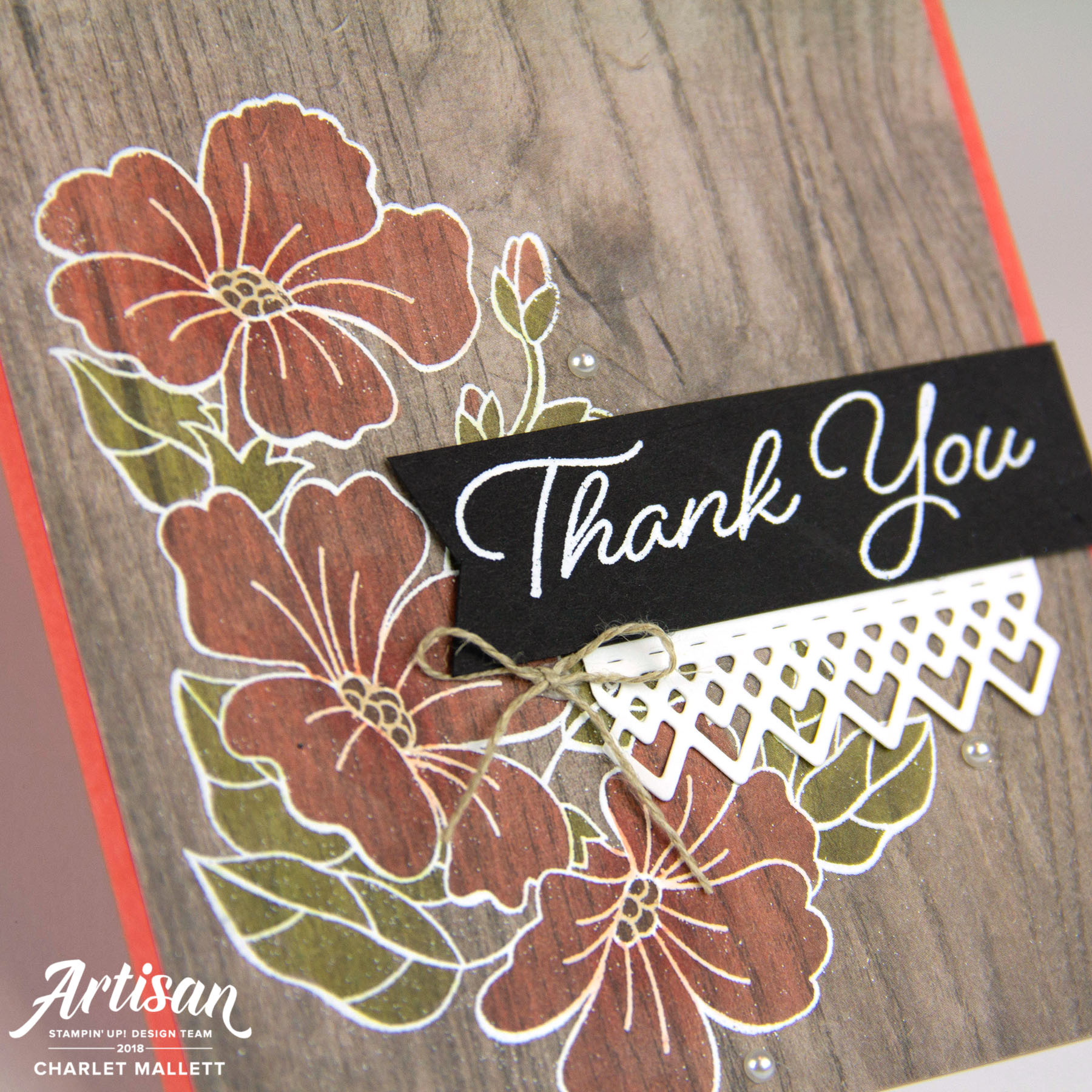 Thank You Card featuring Blended Seasons stamp set - Charlet Mallett, Stampin' Up!