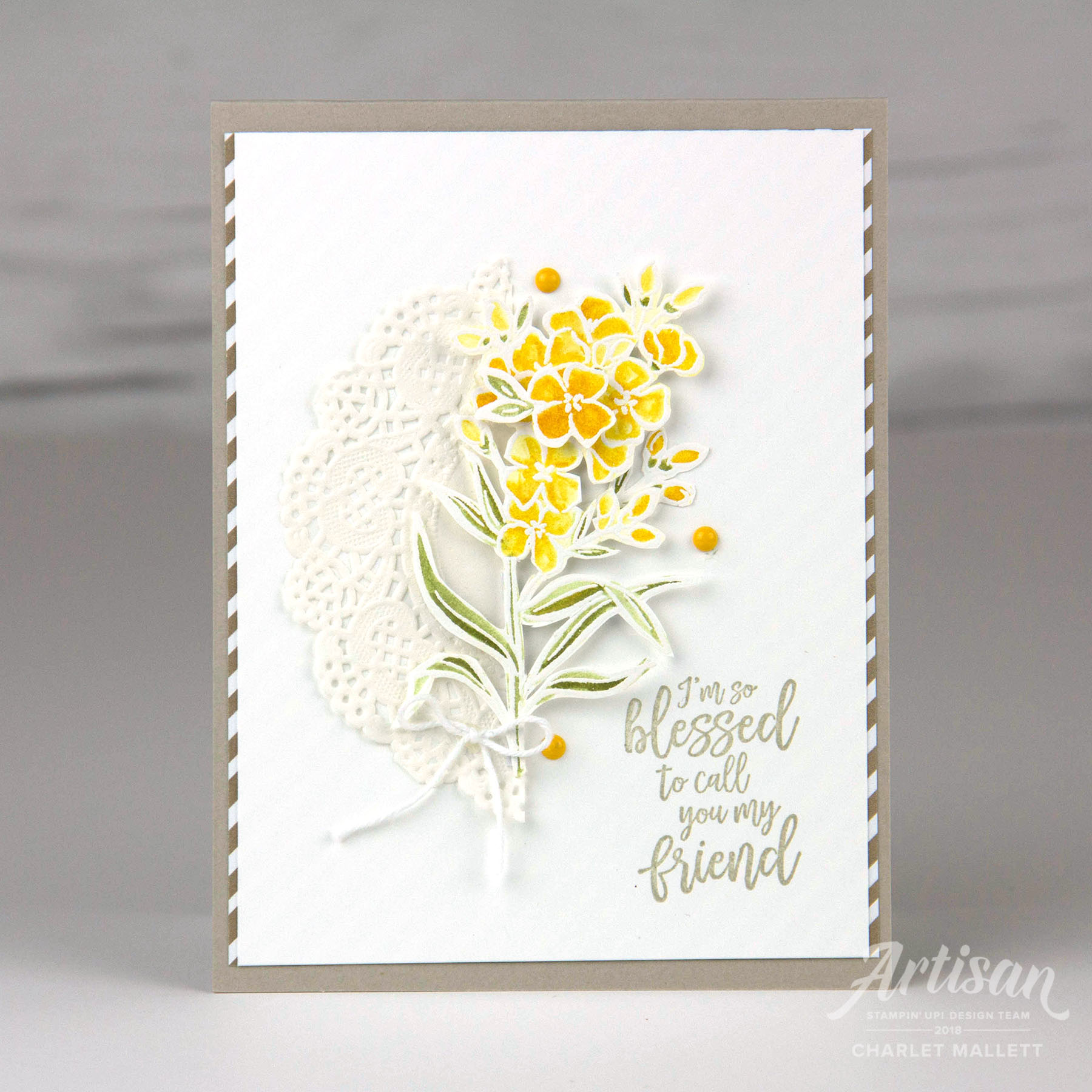 Friend card using the Southern Serenade stamp set - Charlet Mallett, Stampin' Up!
