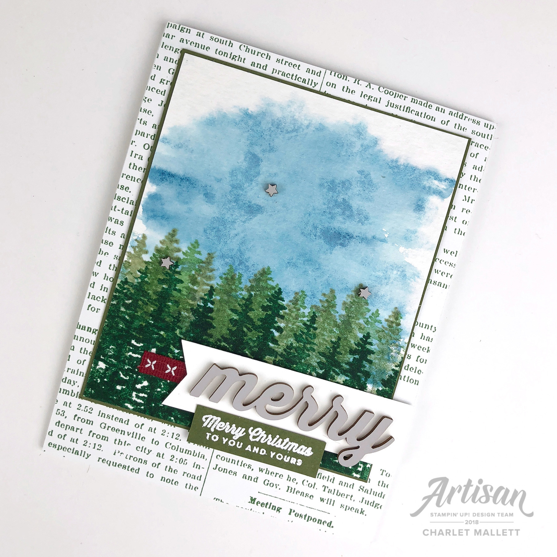 Waterfront card - Charlet Mallett, Stampin' Up!