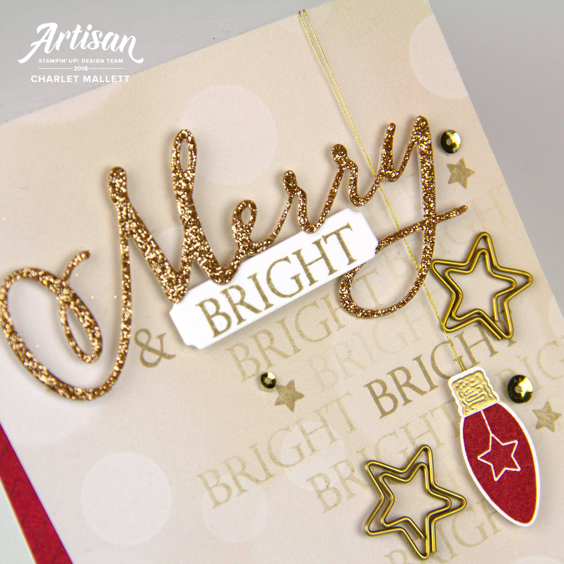 Making Christmas Bright and Merry Christmas to All - Charlet Mallett, Stampin' Up!