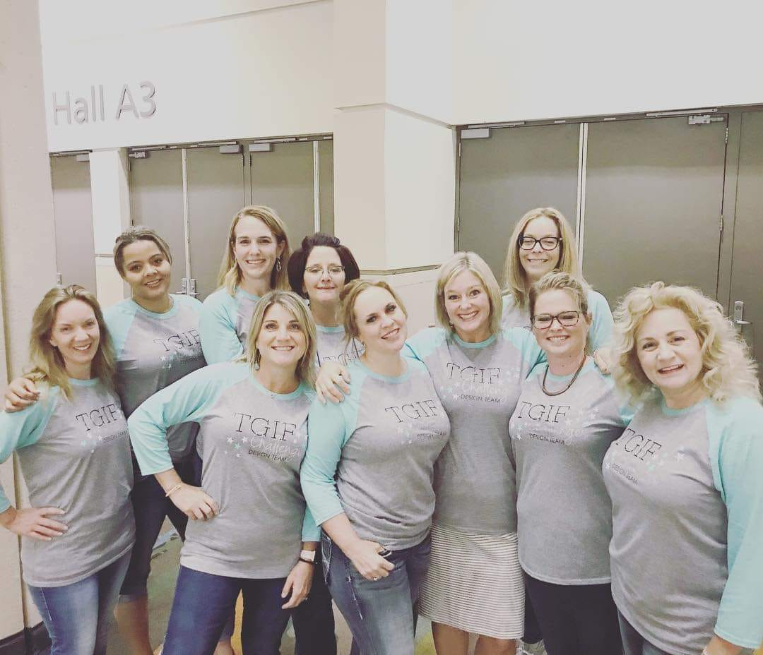Some of the TGIF Challenges crew at Stampin' Up! OnStage in Orlando 2018
