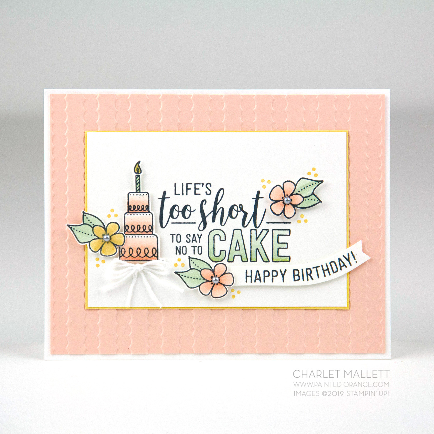 Birthday Card using Amazing Life stamp set - Stampin' Up! Charlet Mallett