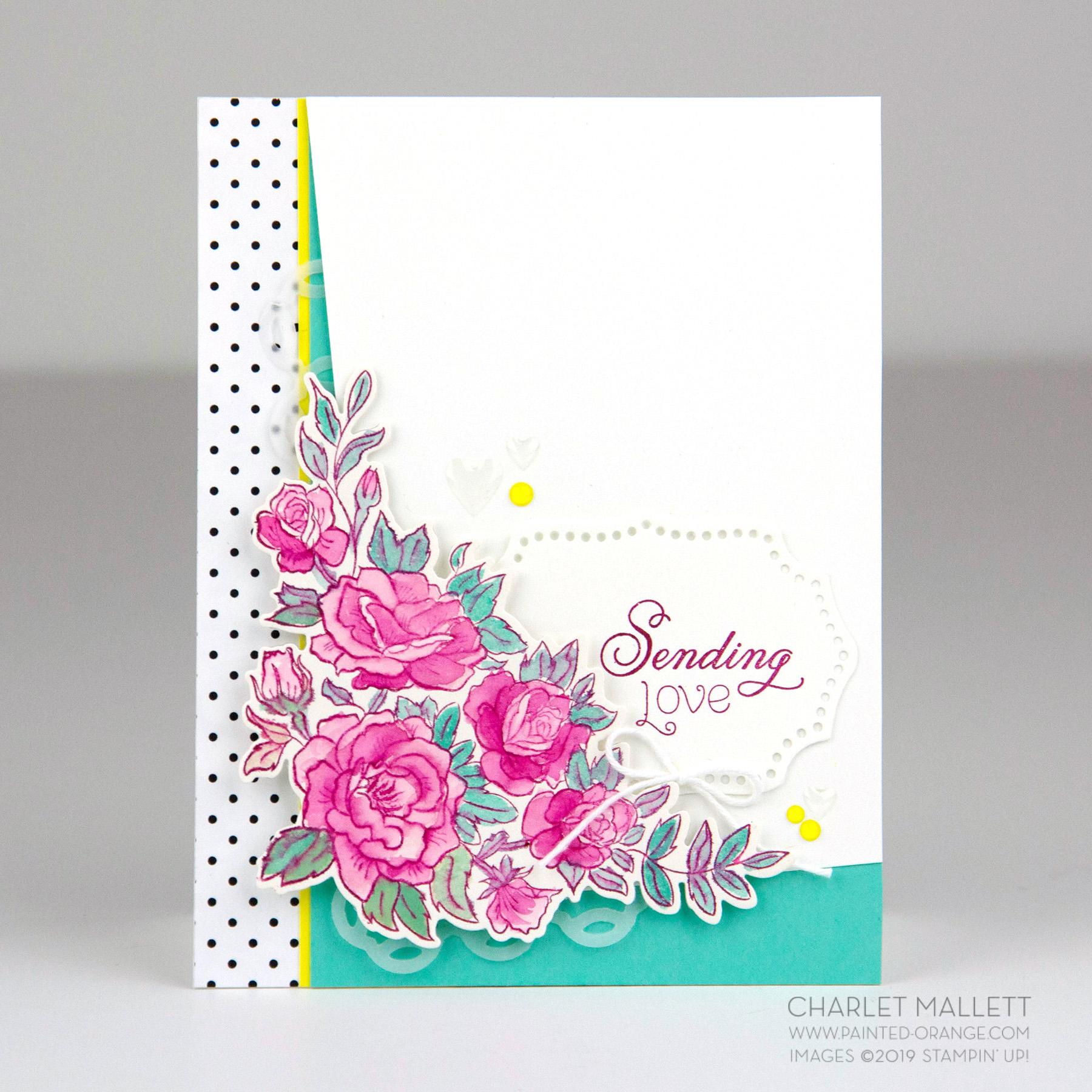 Climbing Roses Valentine card - Charlet Mallett, Stampin' Up!