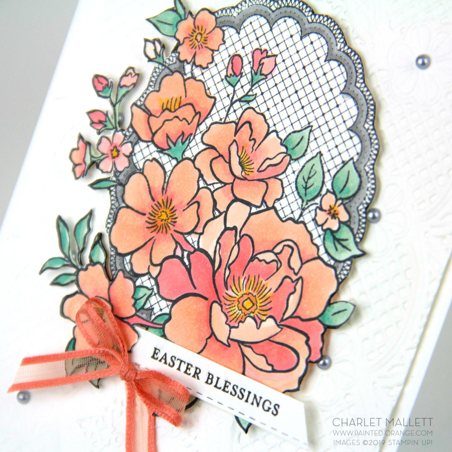Lovely Lattice Easter Card - Charlet Mallett, Stampin' Up!