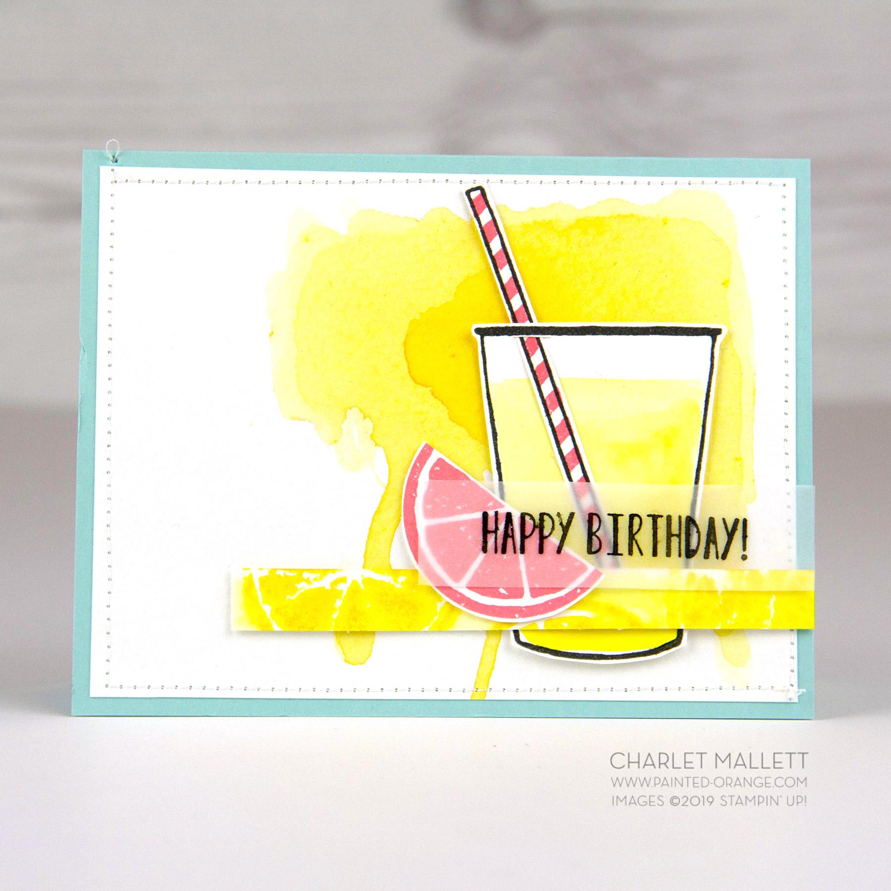 Lemon Zest Lemonade Birthday Card, Charlet Mallett