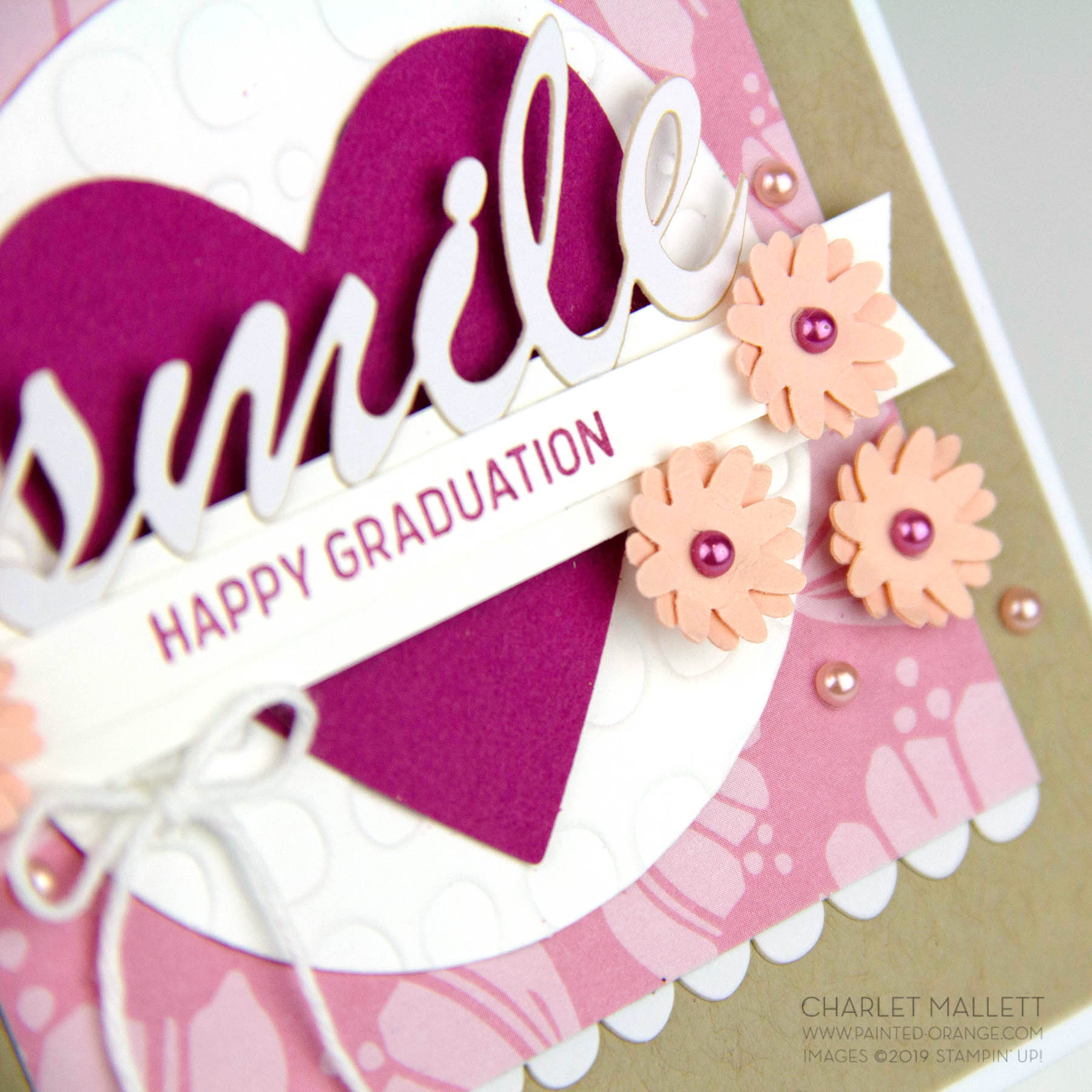 Itty Bitty Greetings and Happiness Blooms Memories and More graduation card - Charlet Mallett, Stampin' Up!