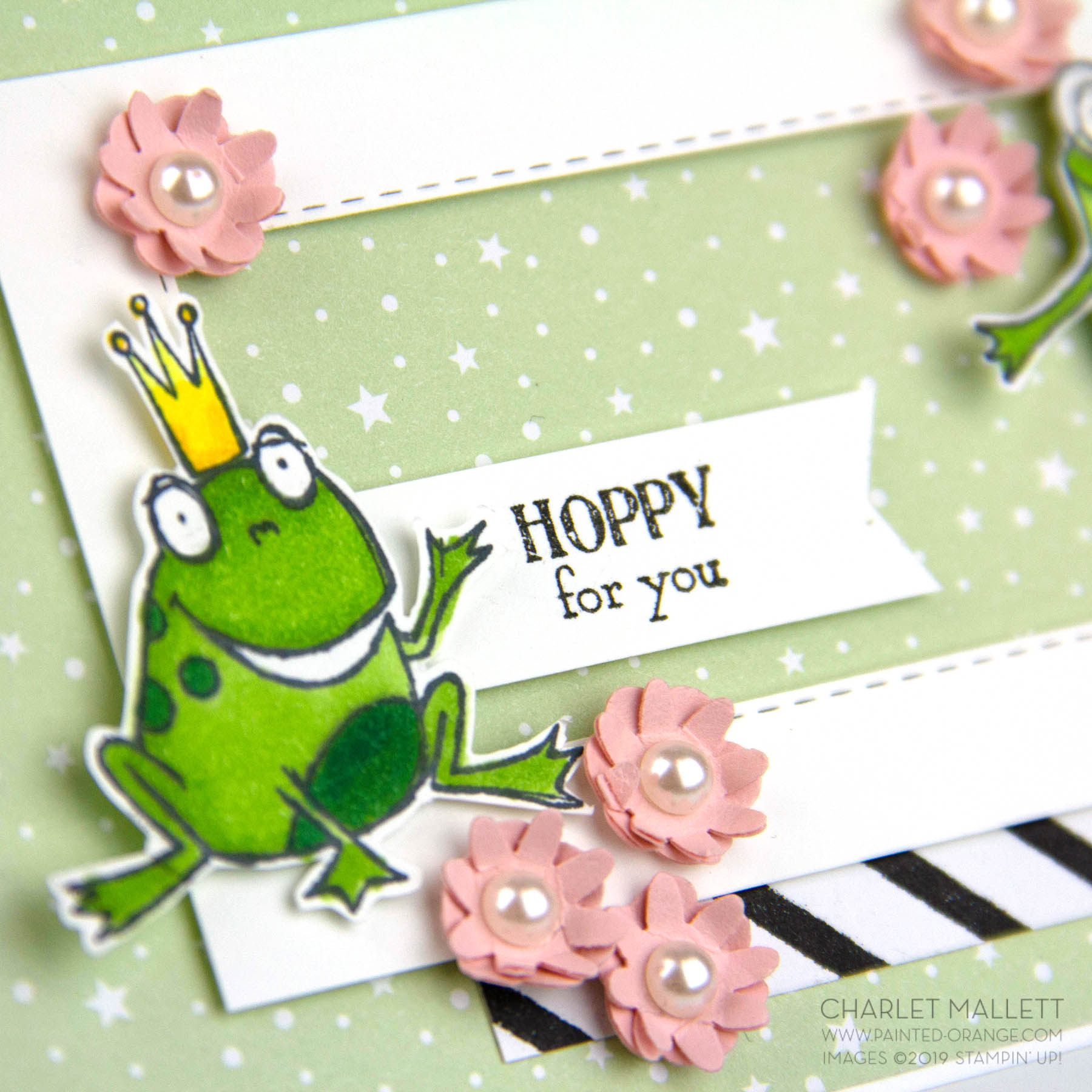 So Hoppy Together frog card- Charlet Mallett, Stampin' Up!