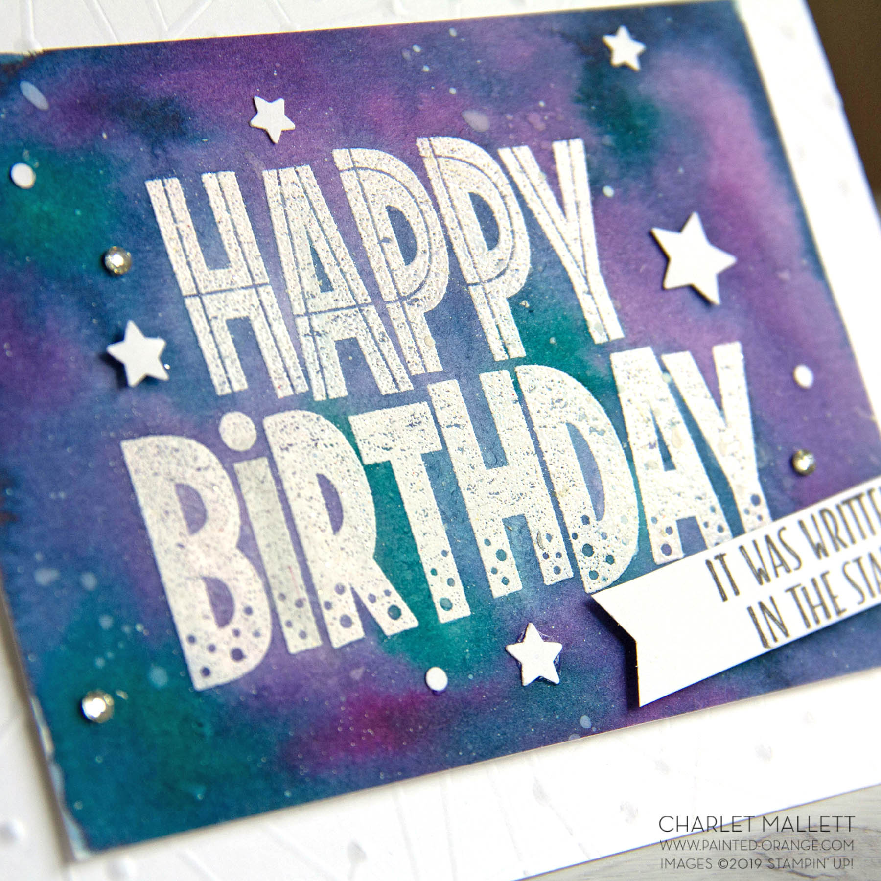 One for All Galaxy Birthday Card - Charlet Mallett, Stampin' Up!