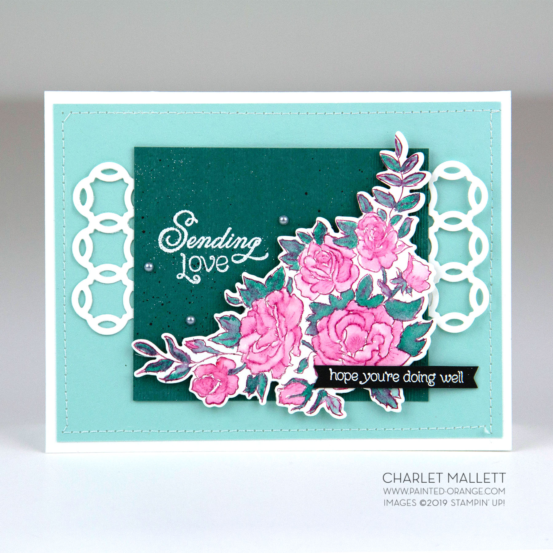 Climbing Roses Sympathy card - Charlet Mallett, Stampin' Up!