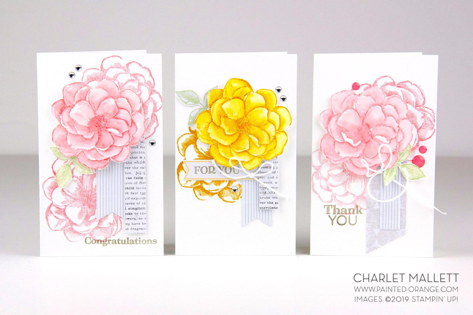 April 2019 Paper Pumpkin - Sentimental Rose - Charlet Mallett Stampin' Up!