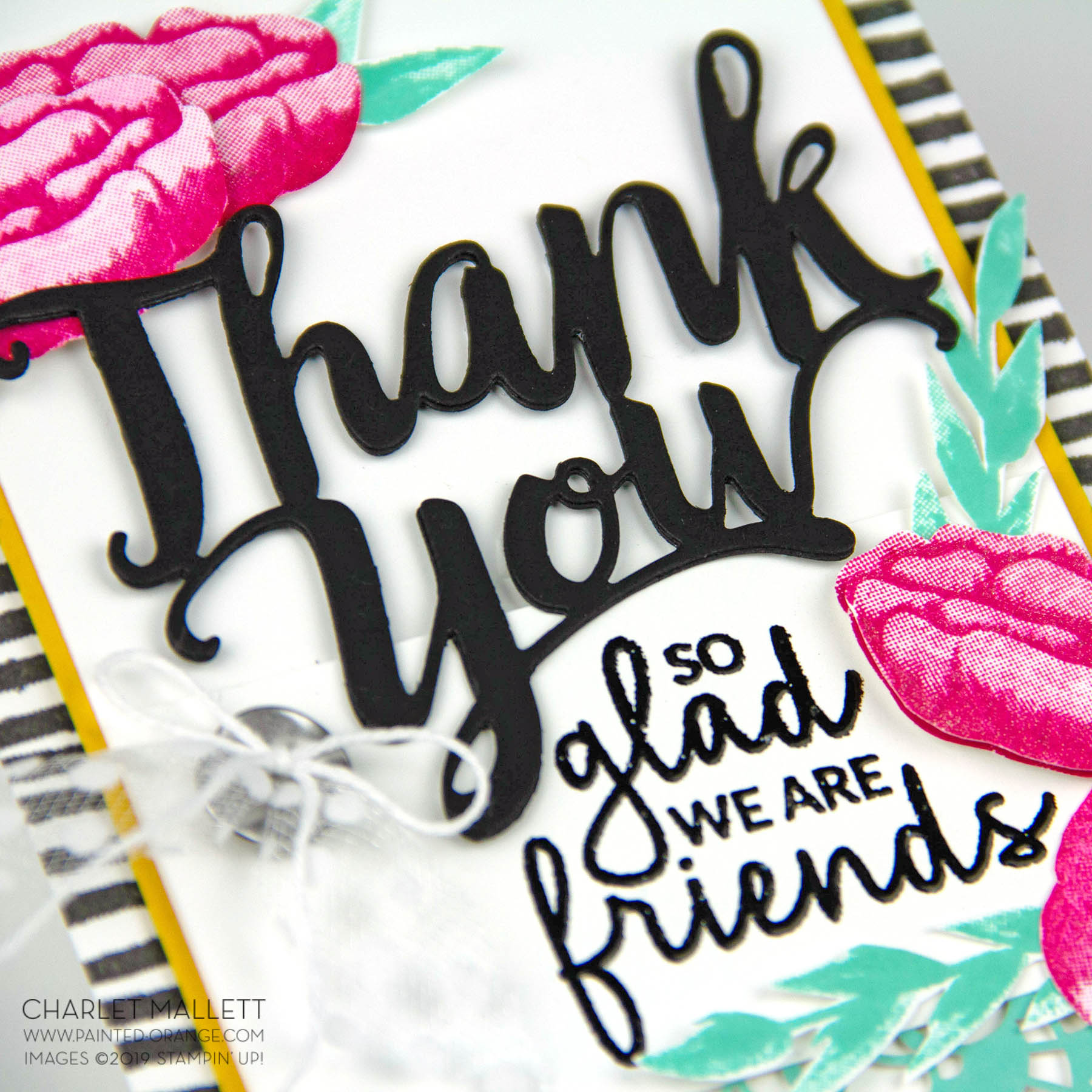 Thank You Banner panel - Incredible like You - Charlet Mallett, Stampin' Up!