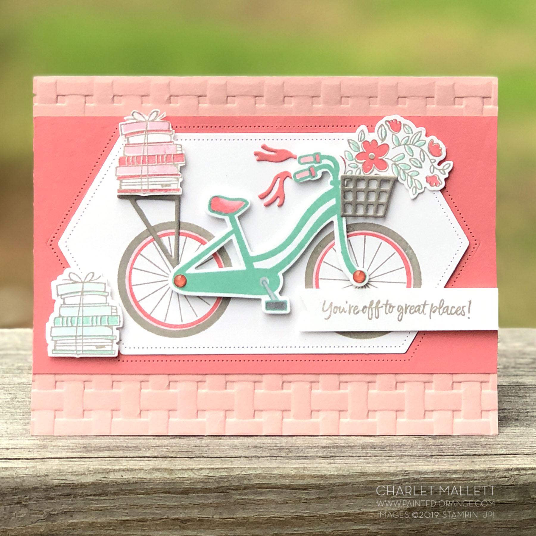 Bike Ride Graduation Card - Charlet Mallett, Stampin' Up!