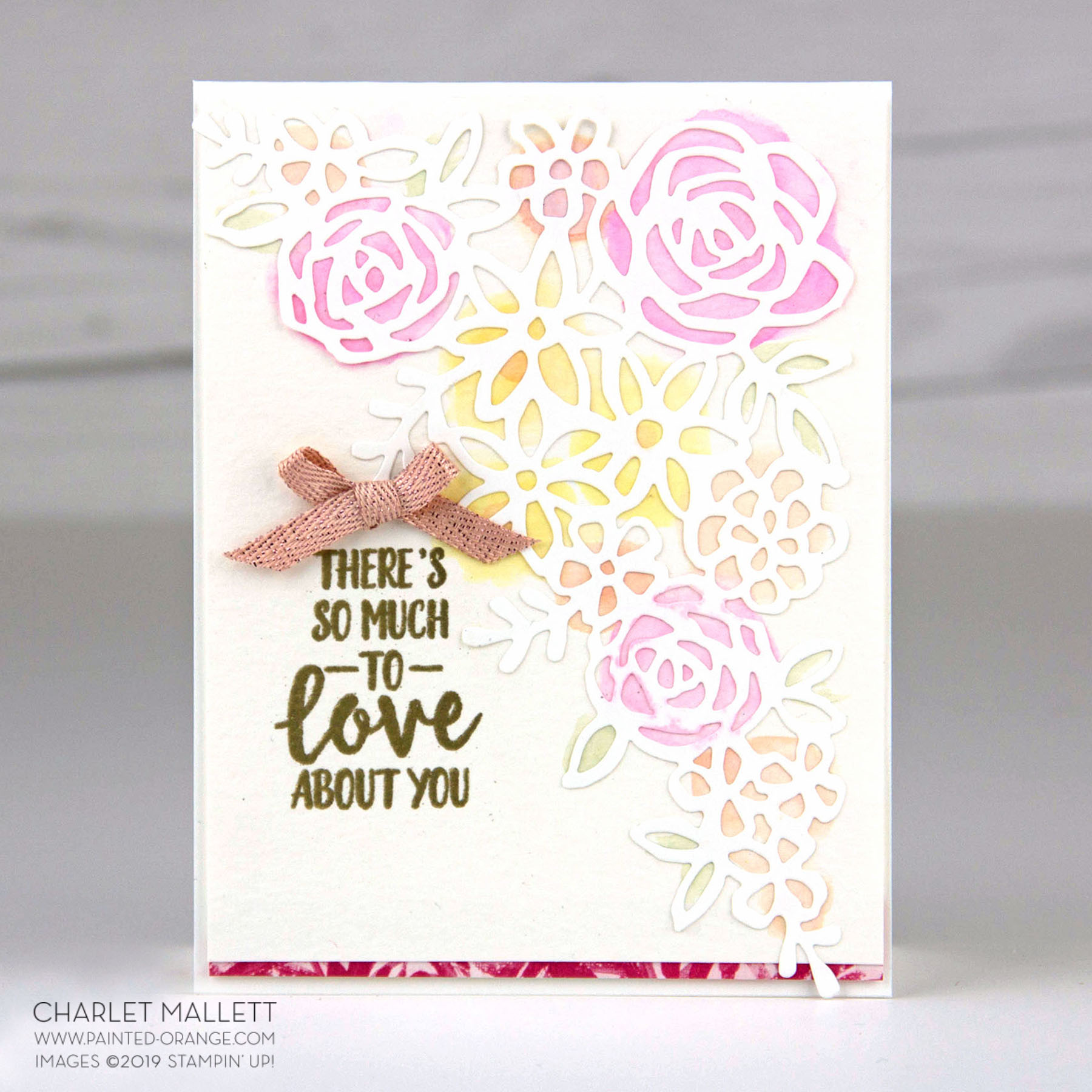 Abstract Impressions Card - Charlet Mallett, Stampin' Up!