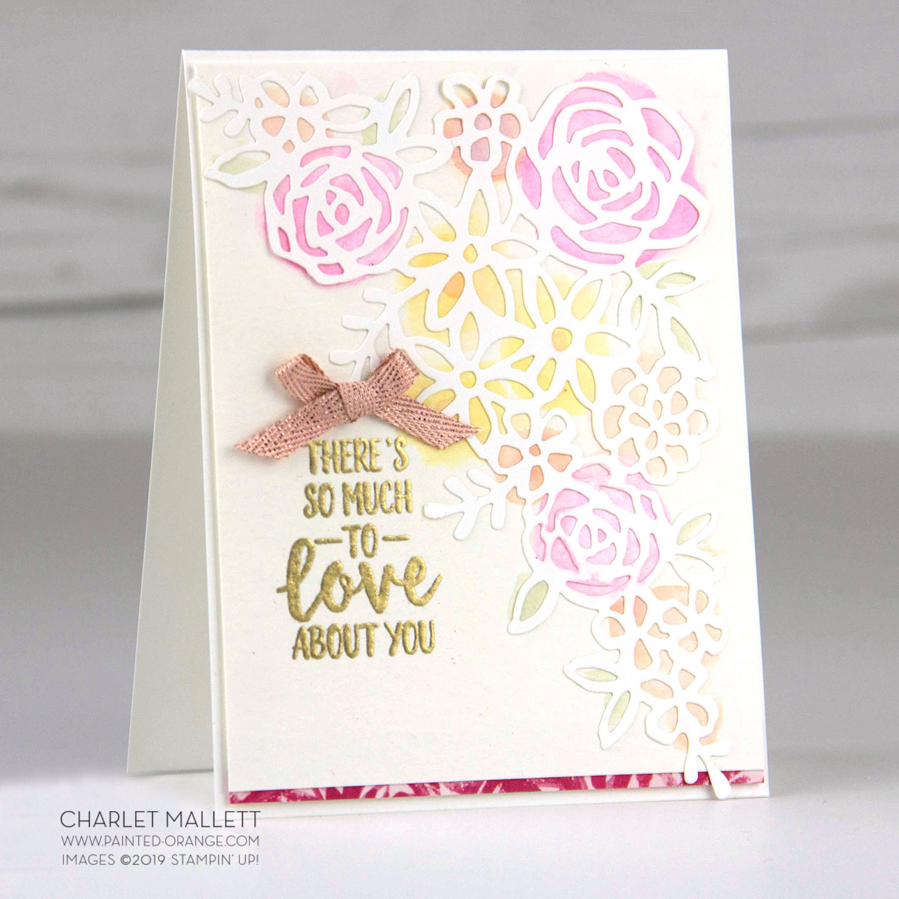 Abstract Impressions Love You Card - Charlet Mallett, Stampin' Up!
